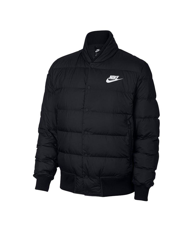 Nike Down Fill Bomberjacke Jacket Schwarz F010 - schwarz