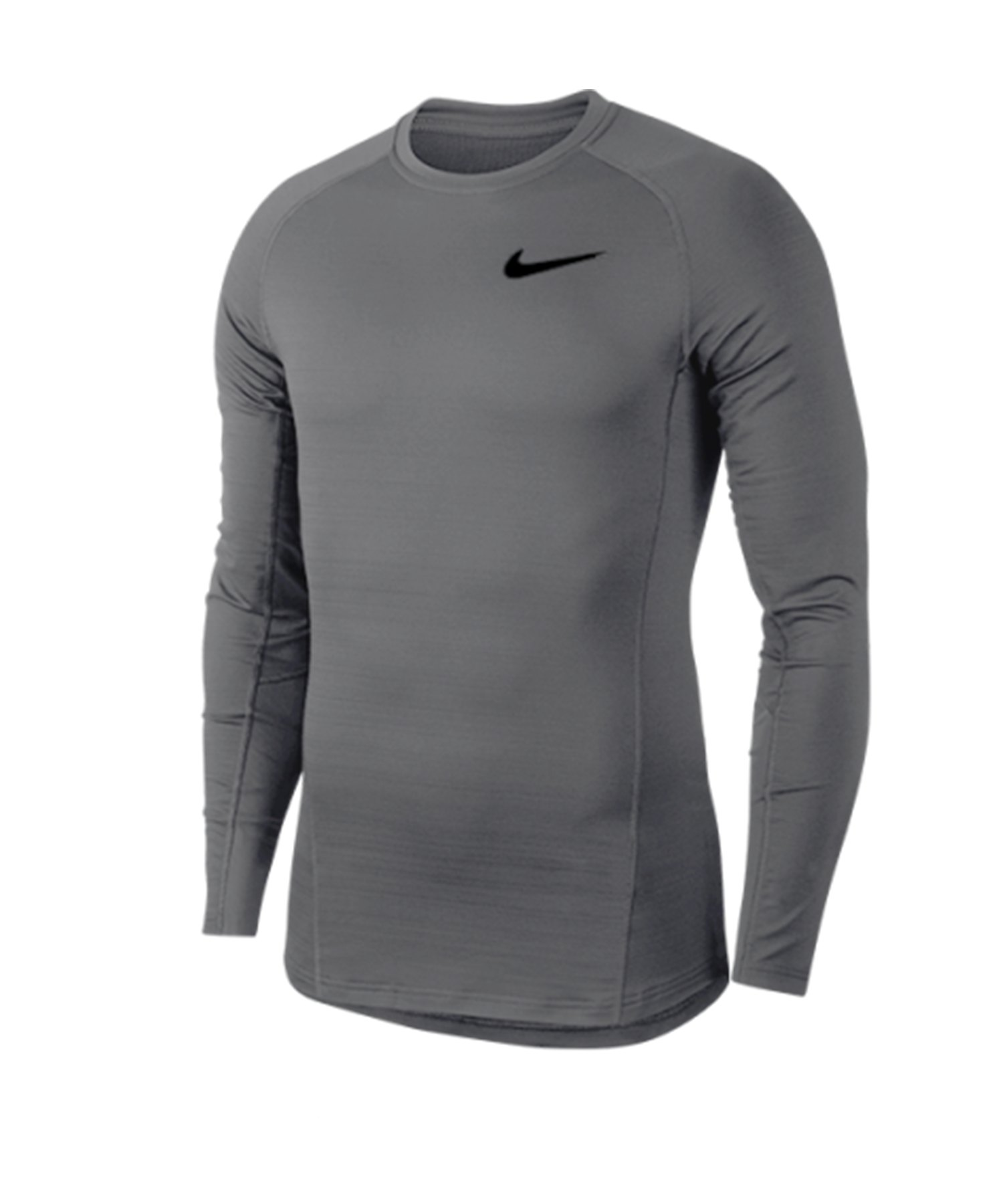 Nike Pro Warm langarm Shirt Grau Schwarz F036 - grau