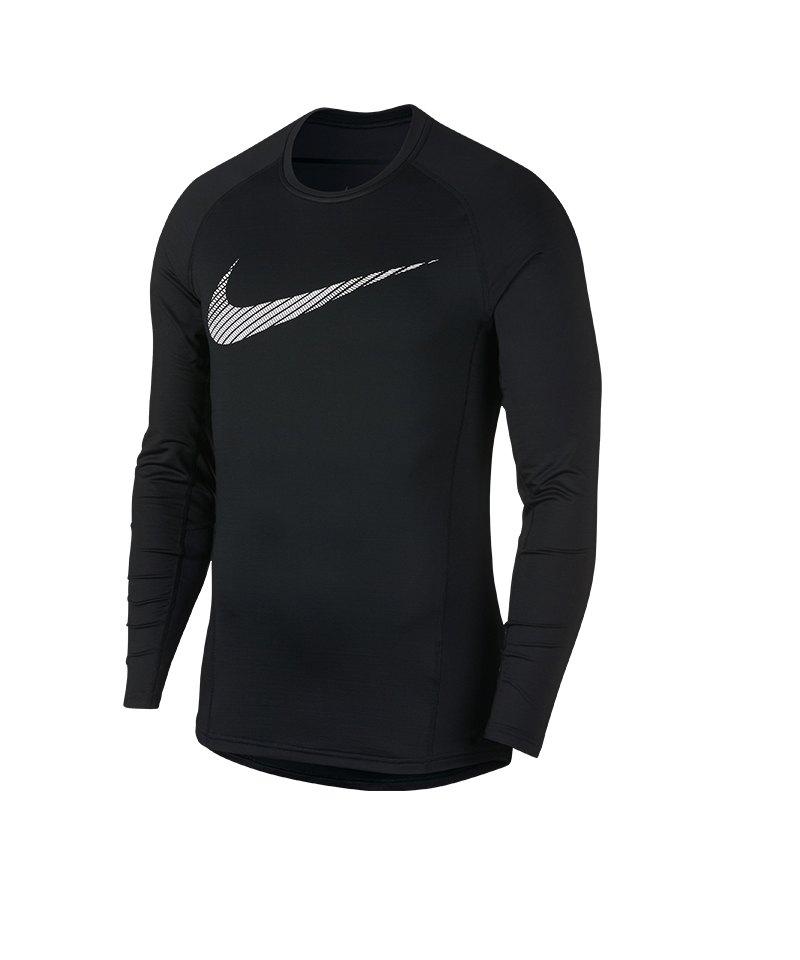 Nike Pro Graphic Longsleeve Shirt Schwarz F010 - schwarz