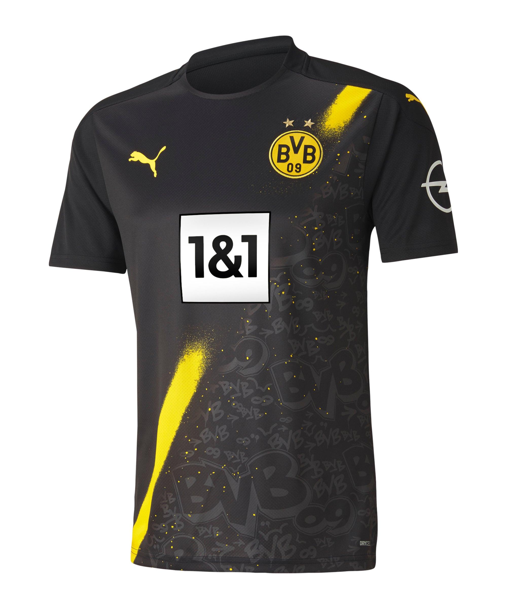 PUMA BVB Dortmund Trikot Away 2020/2021 Schwarz F02 - schwarz