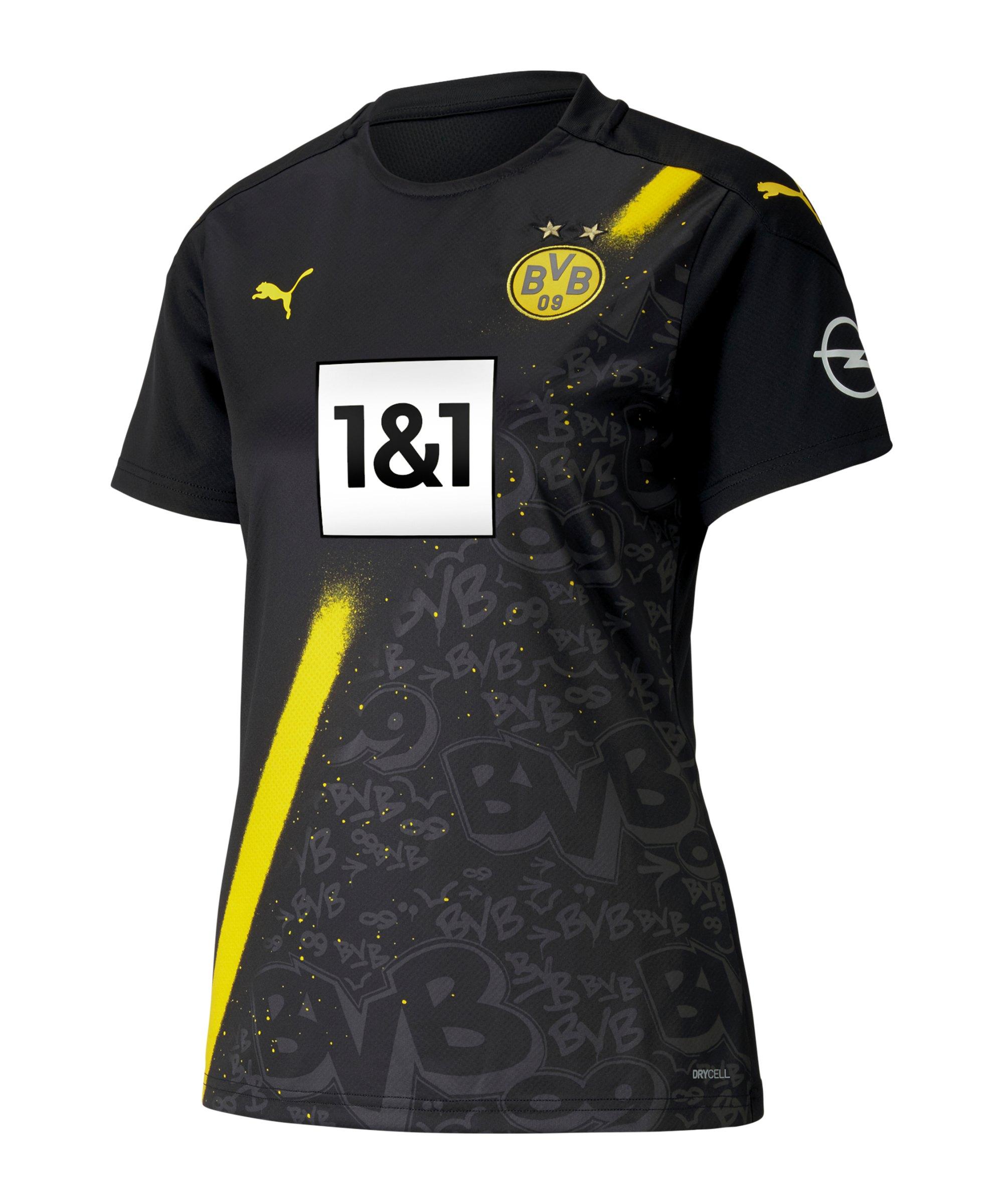 PUMA BVB Dortmund Trikot Away 2020/2021 Damen Schwarz F02 - schwarz