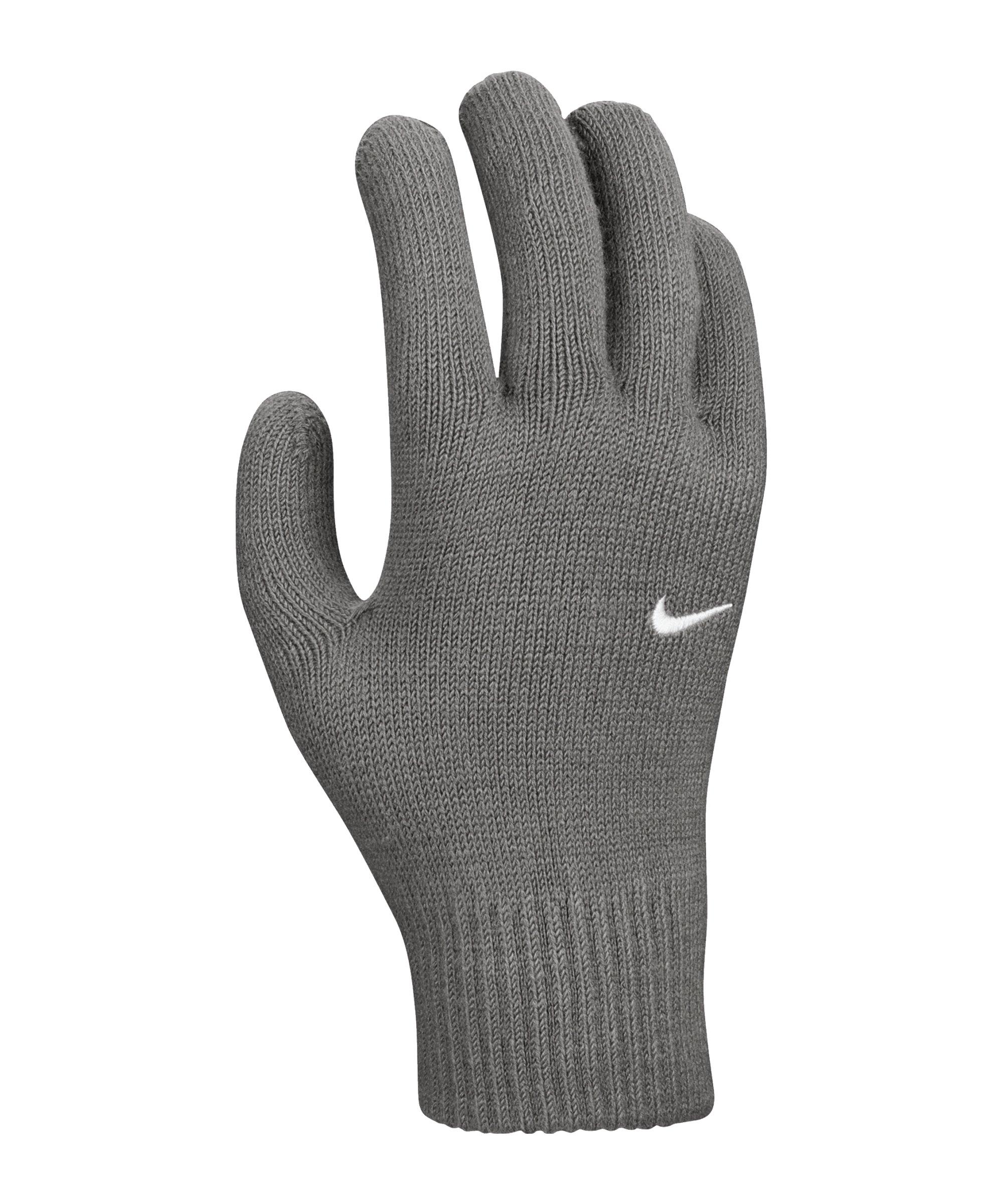 Nike Swoosh Knit Spielerhandschuhe 2.0 Grau F084 - grau
