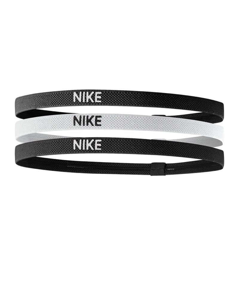 Nike Haarband Stirnband Thin 3er Pack F036 - schwarz