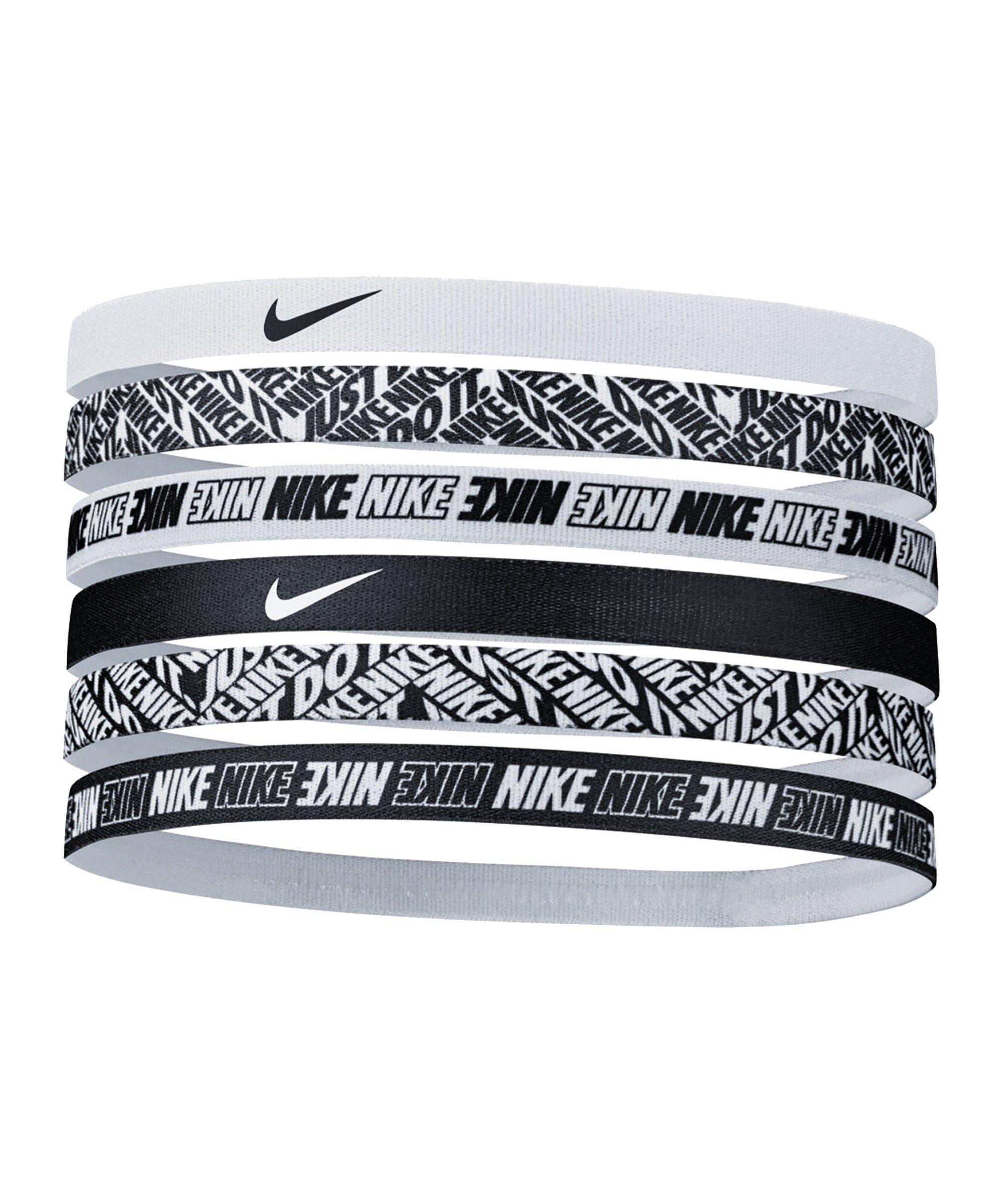 Nike Printed Stirnbänder 6er Pack F176 - weiss