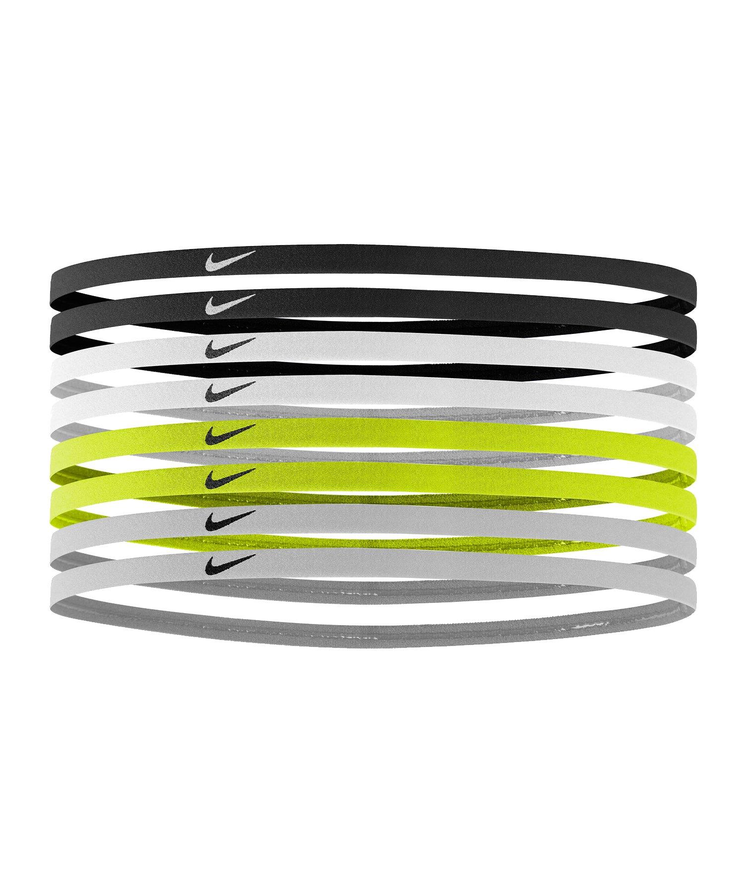 Nike Skinny Stirnbänder 8er Pack F977 - schwarz