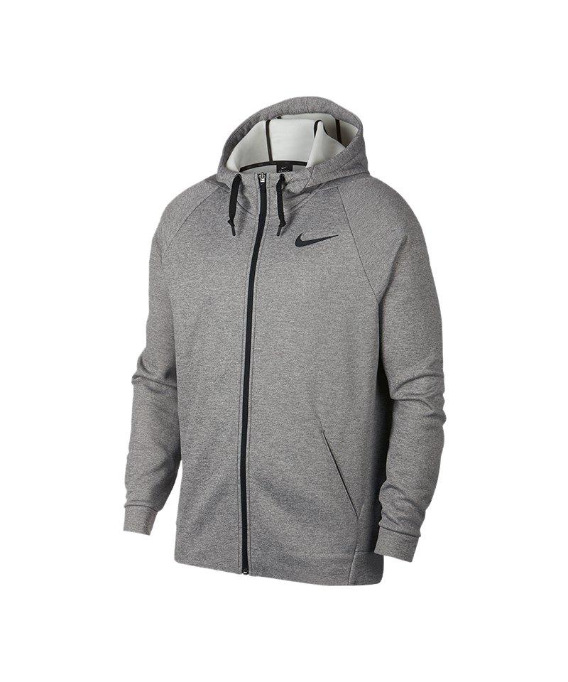 Nike Therma Kapuzenjacke Grau Schwarz F063 - grau