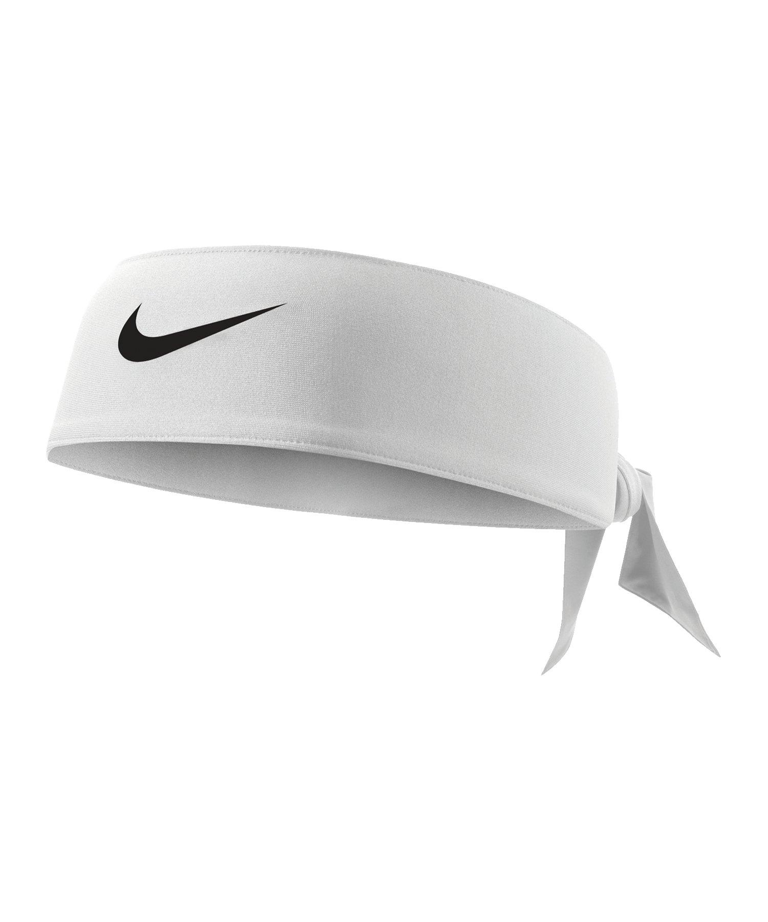 Nike Dri-FIT 3.0 Haarband zum Binden F101 - weiss