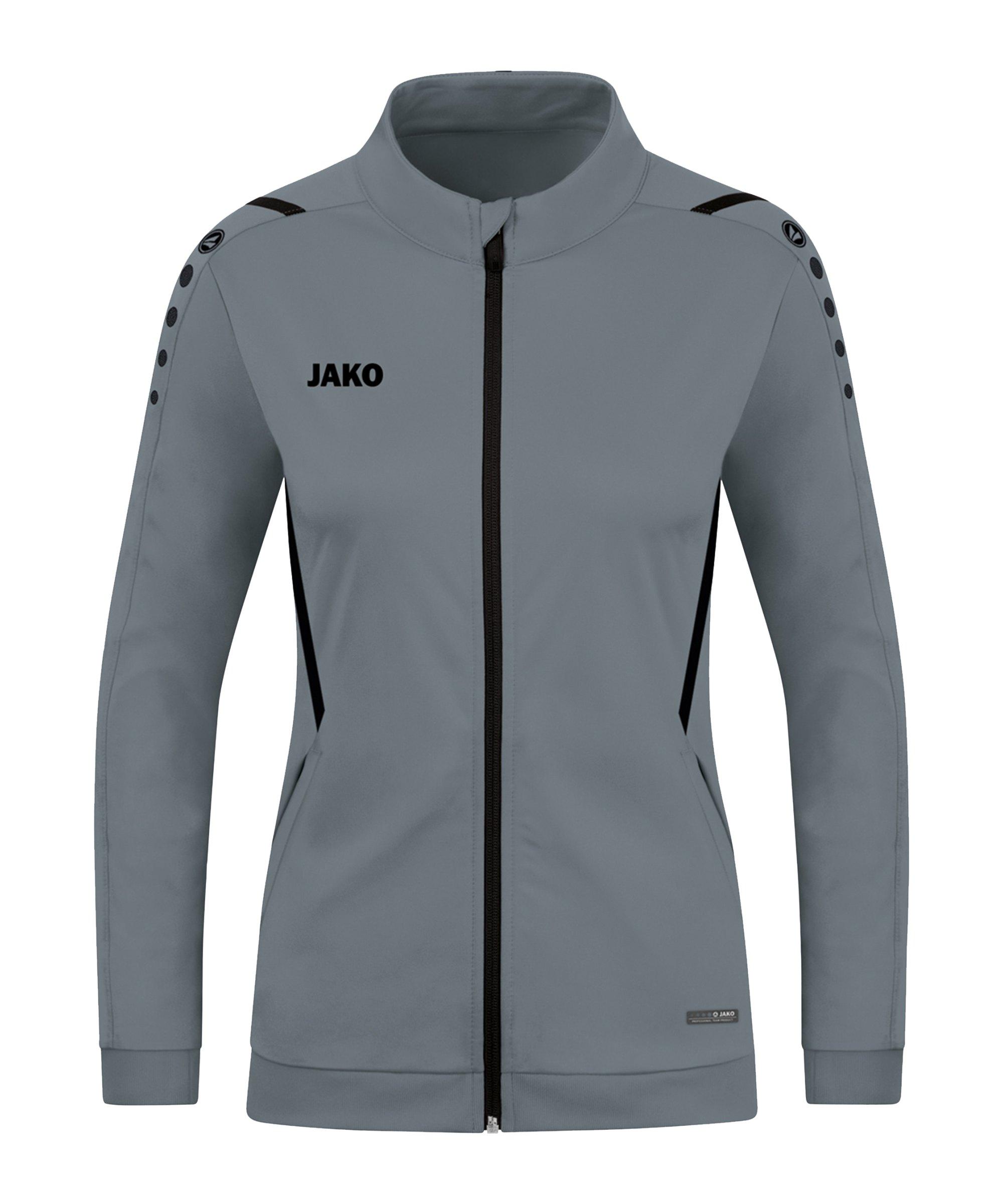JAKO Challenge Polyesterjacke Damen Grau F841 - grau