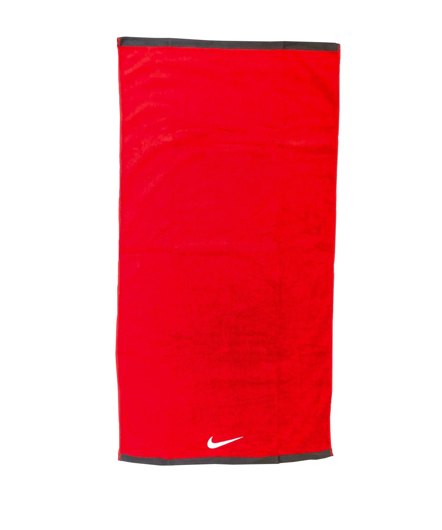 Nike Fundamental Towel Handtuch Rot Weiss 643 - rot