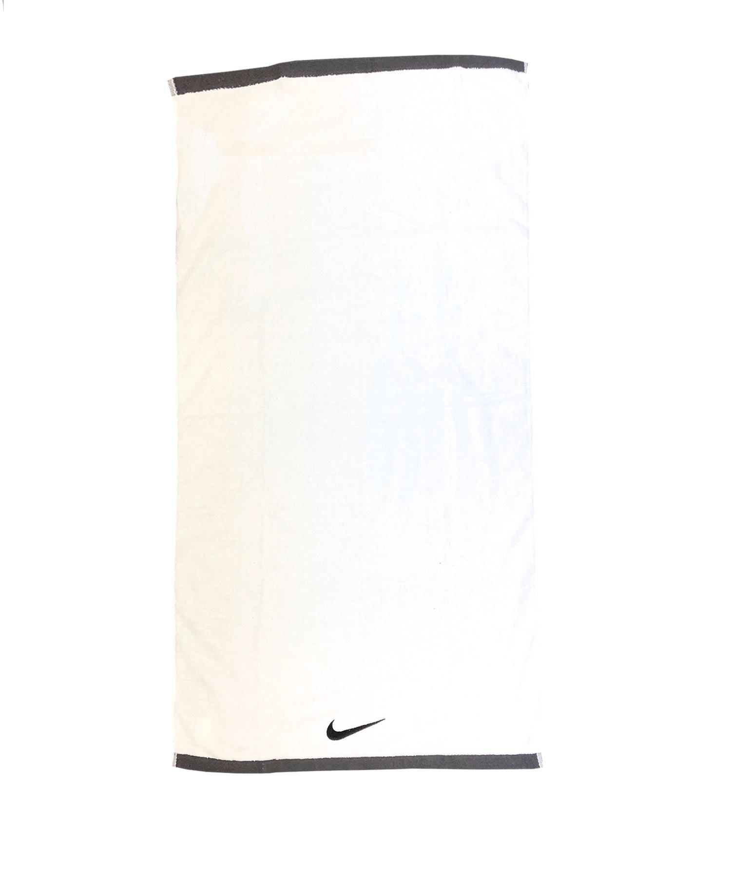 Nike Fundamental Towel Handtuch Weiss Schwarz F101 - weiss