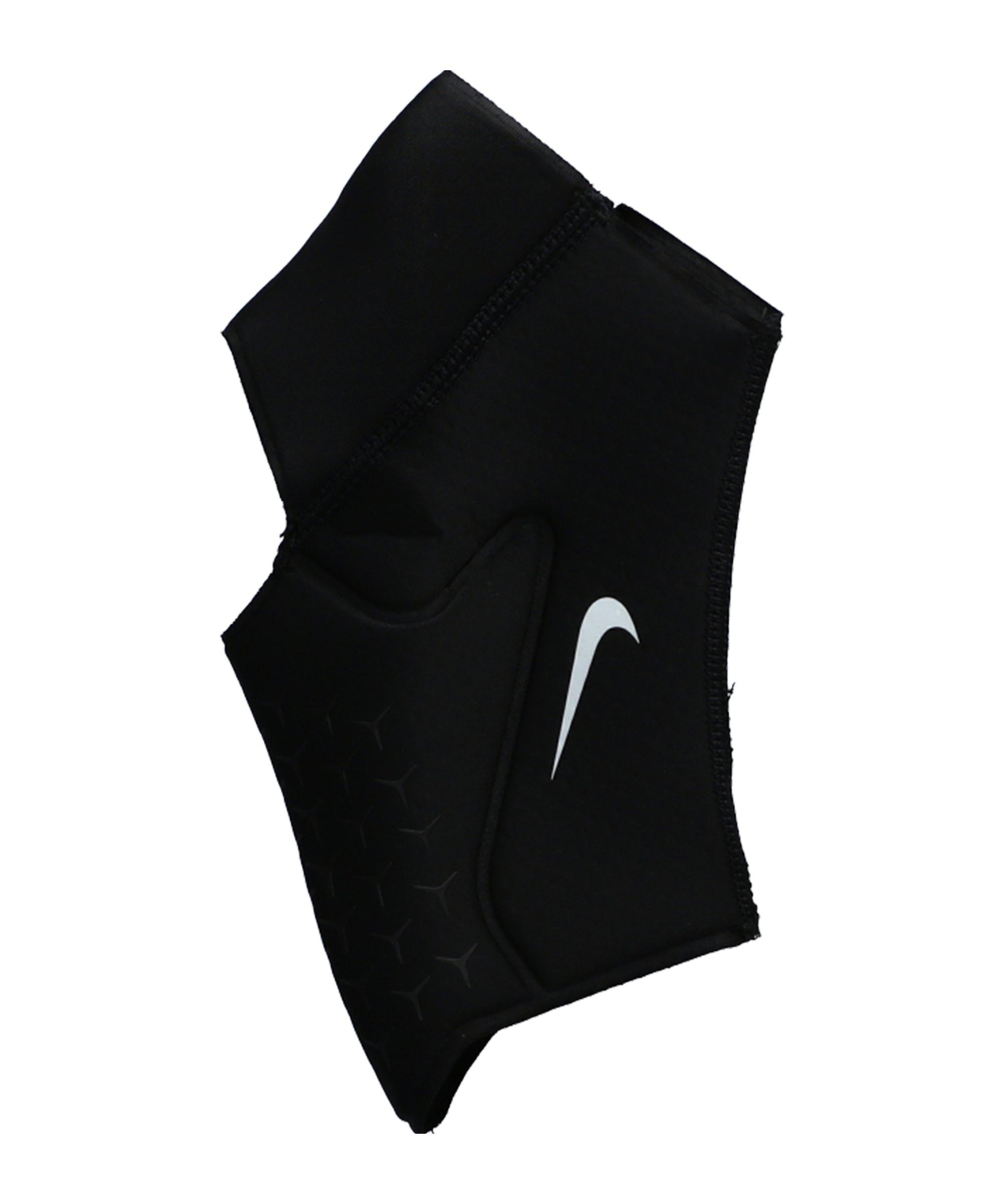 Nike Pro Ankle Sleeve 3.0 Schwarz Weiss F010 - schwarz