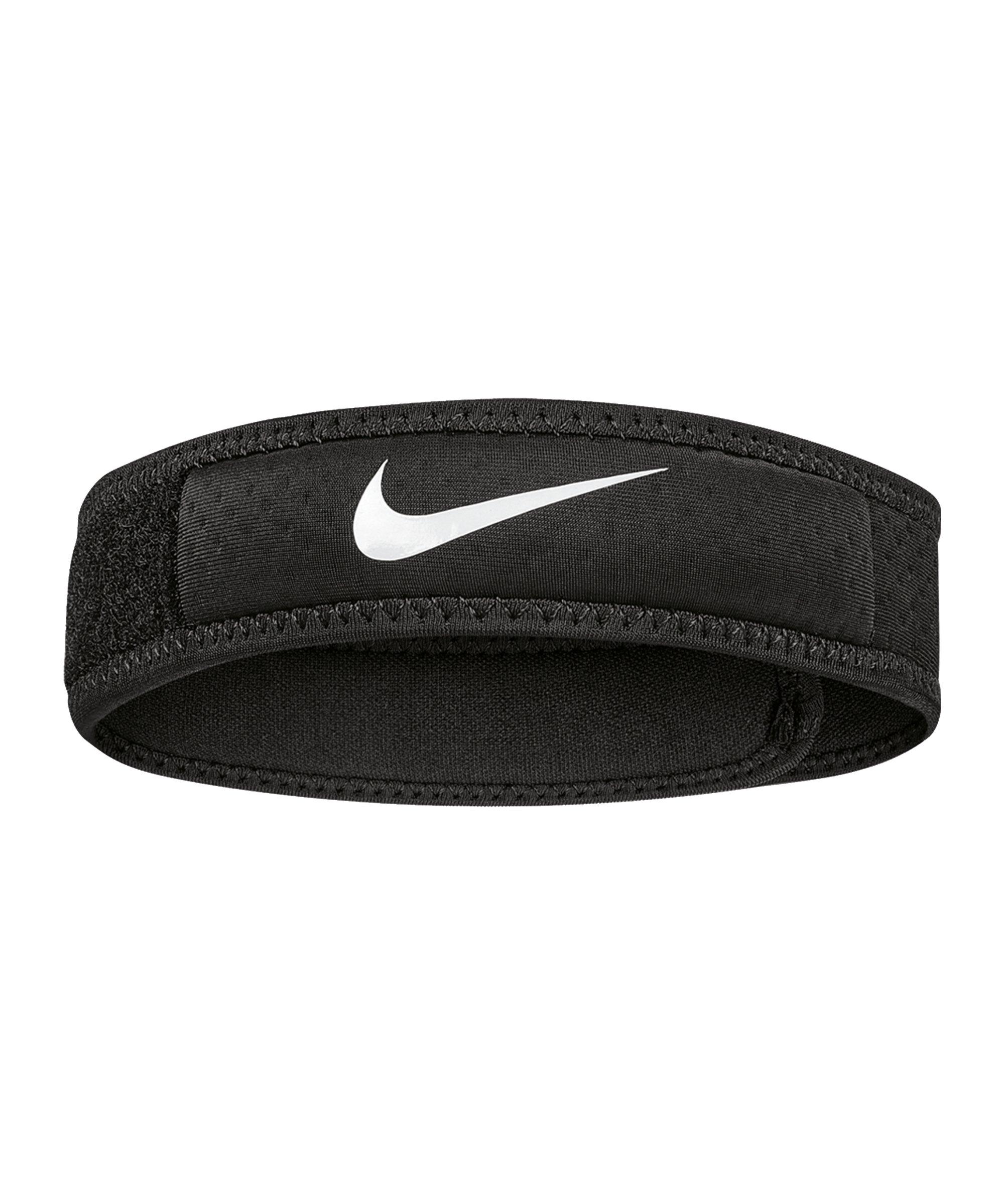 Nike Pro Patella Band 2.0 Schwarz Weiss F010 - schwarz