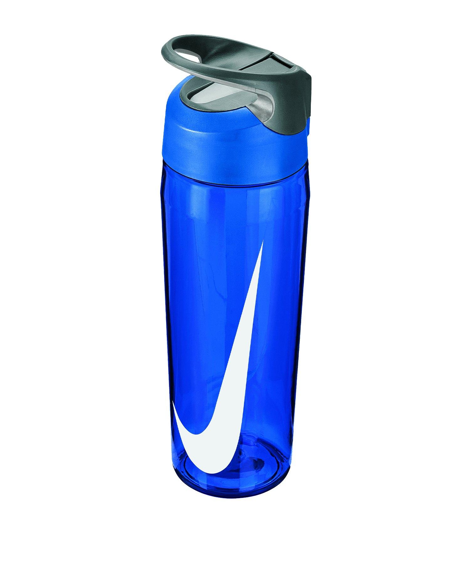 Nike TR Hypercharge Straw Bottle 709 ml F445 - blau