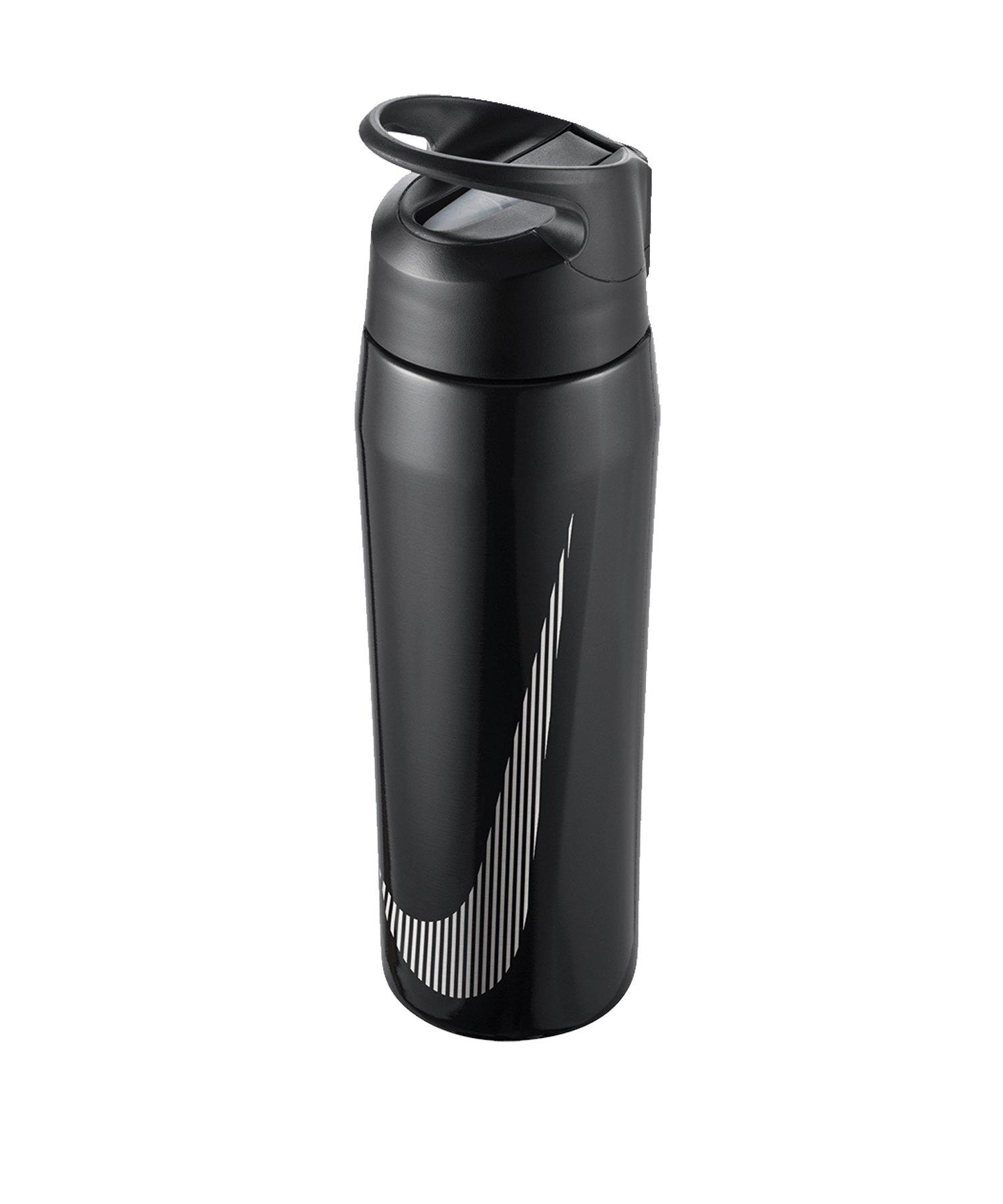 Nike Hypercharge Straw Bottle 24 OZ Schwarz F074 - schwarz