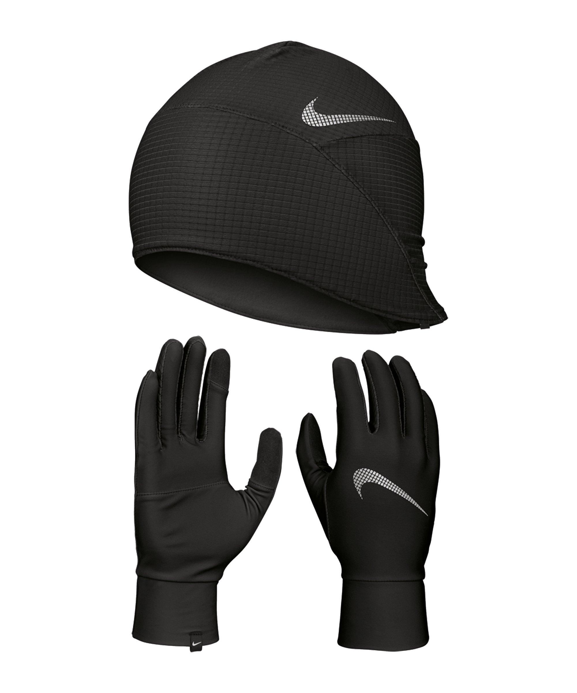 Nike Essential Mütze und Handschuh Set F082 - schwarz
