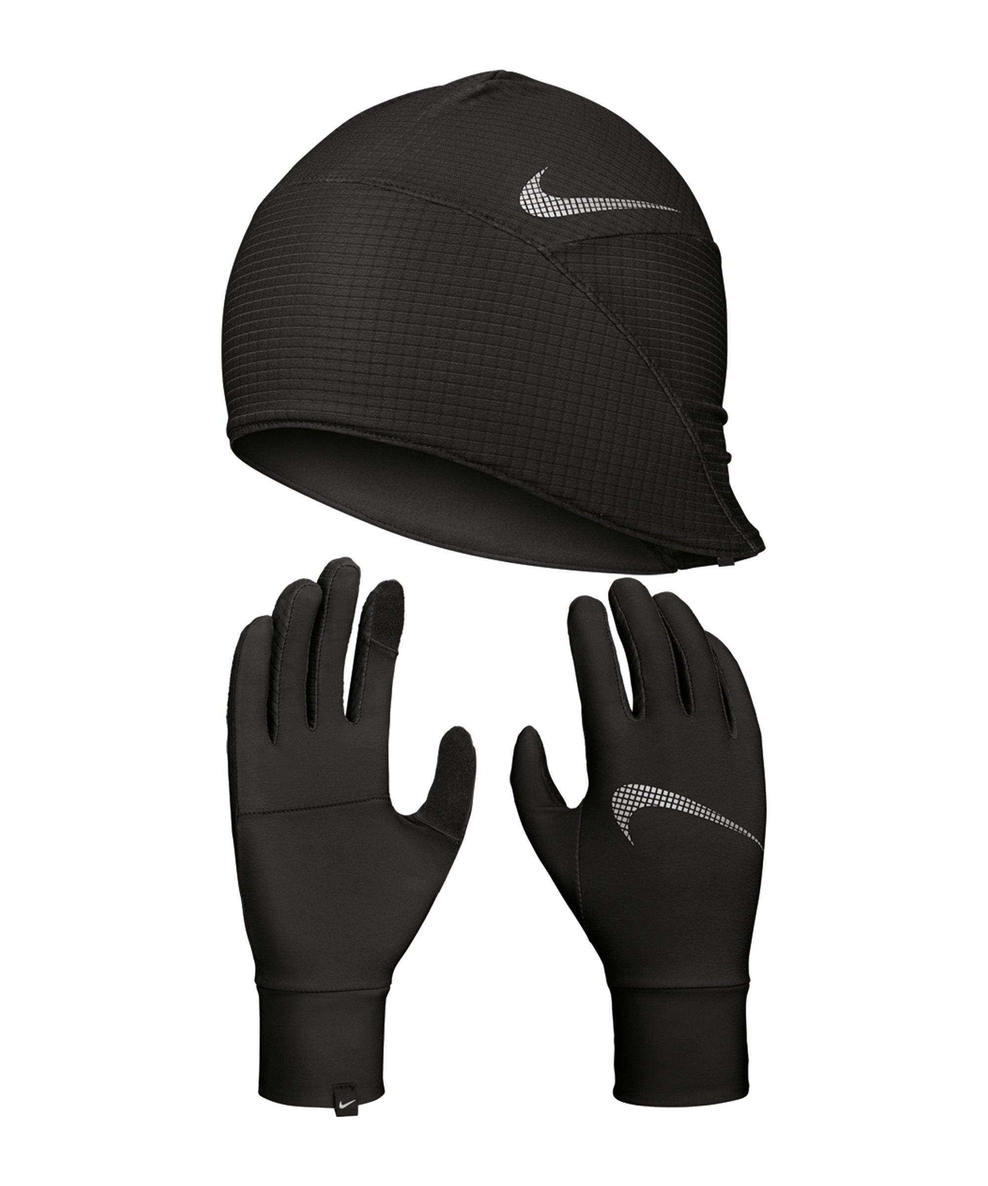 Nike Essential Mütze und Handschuh Set Damen F082 - schwarz
