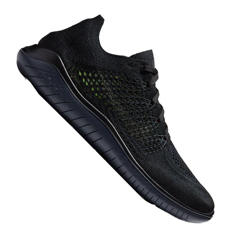 Nike Free RN Flyknit 2018 Running Schwarz F002 - schwarz