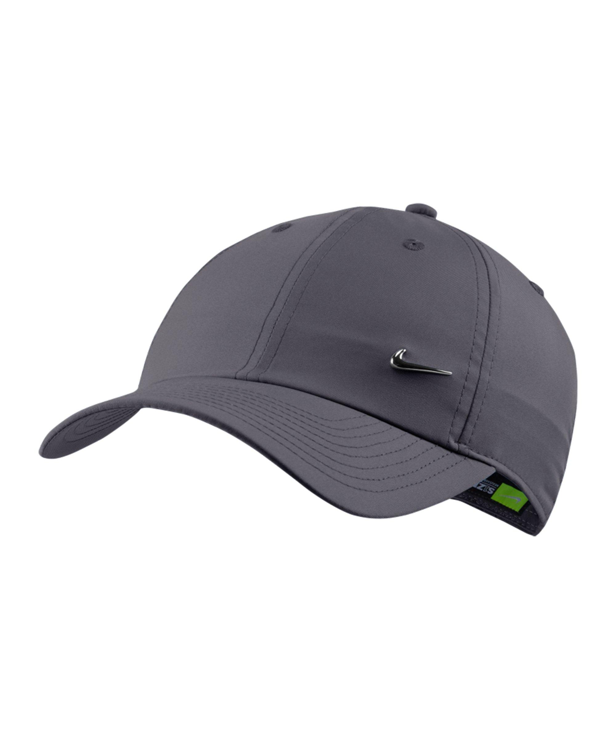 Nike Heritage 86 Metal Swoosh Cap Grau F021 - grau