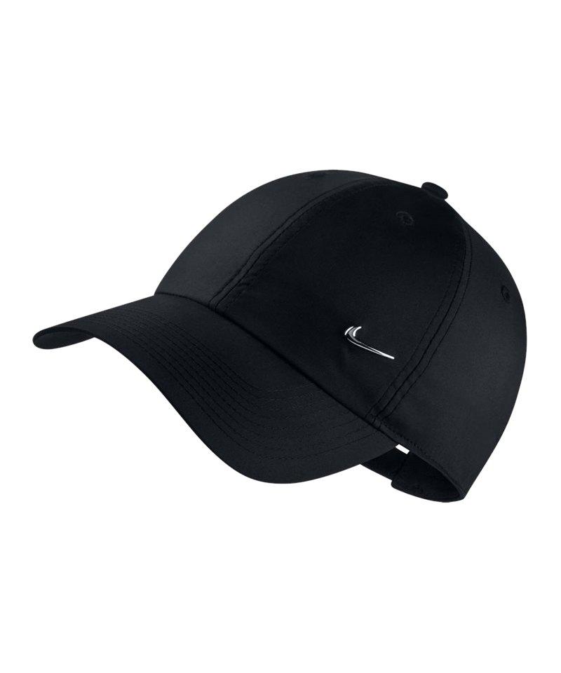 Nike Heritage 86 Metal Swoosh Cap Schwarz F010 - schwarz