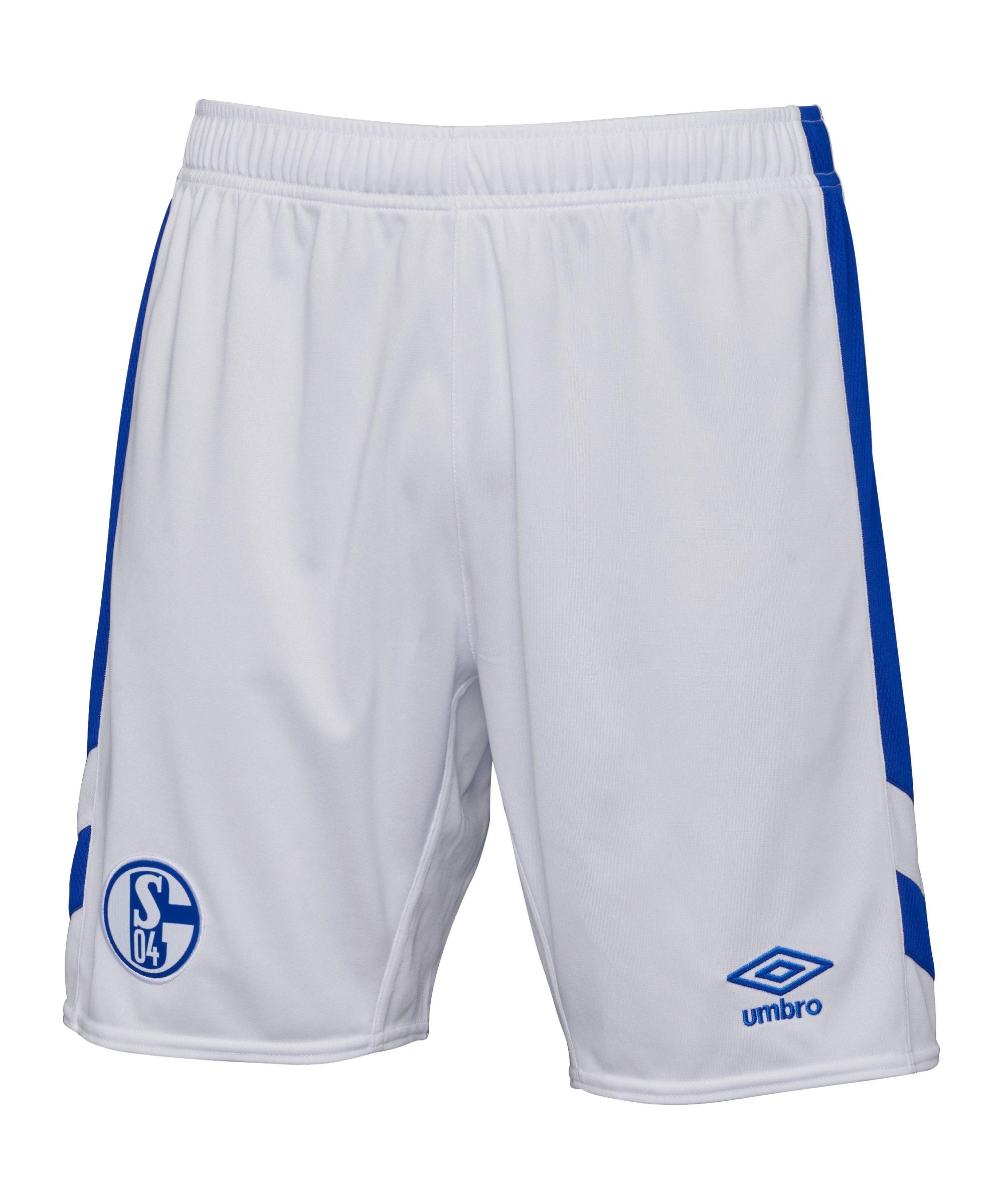 Umbro FC Schalke 04 Short Home 2021/2022 Weiss - weiss