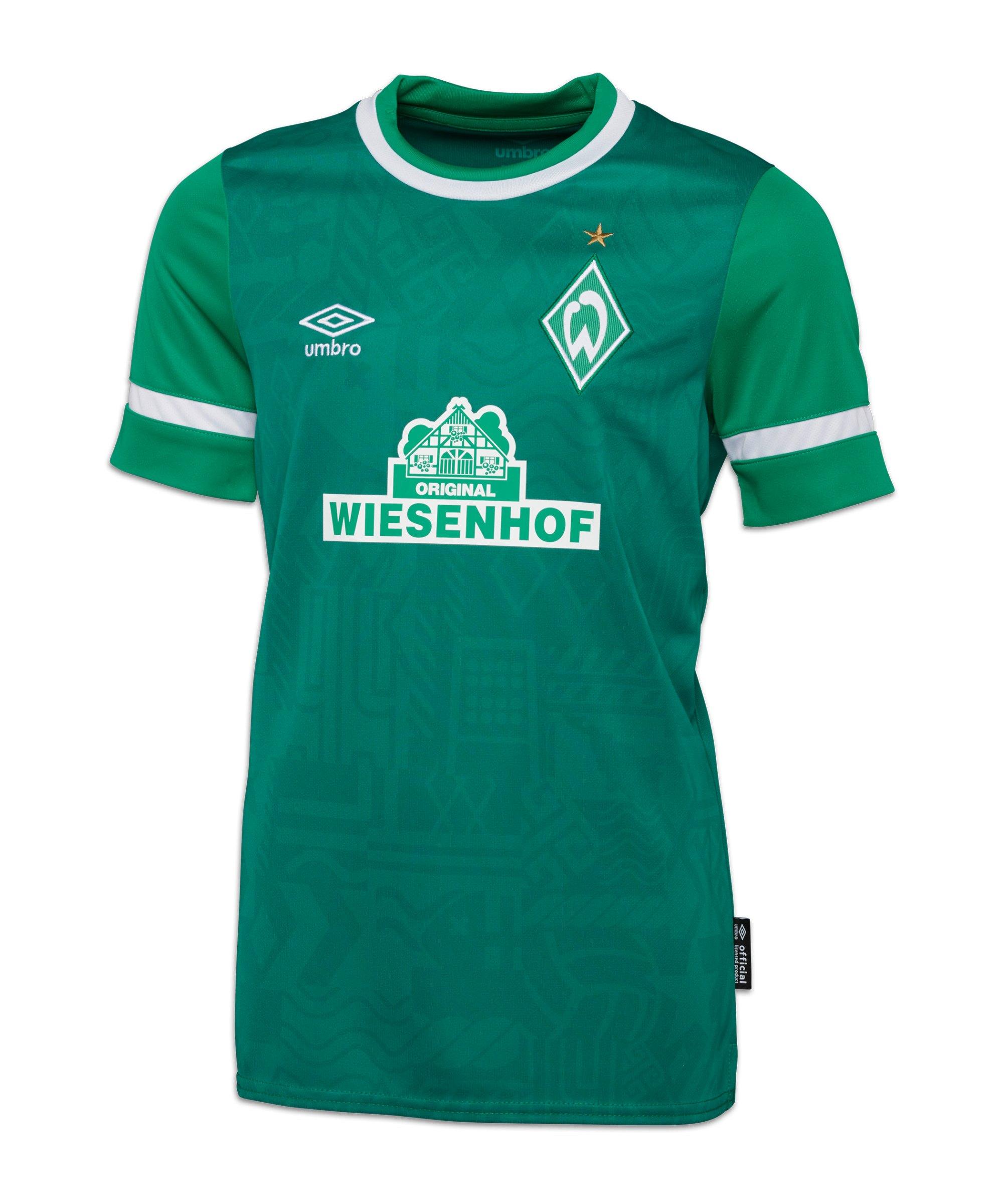 Umbro SV Werder Bremen Trikot Home 2021/2022 Kids Grün - gruen