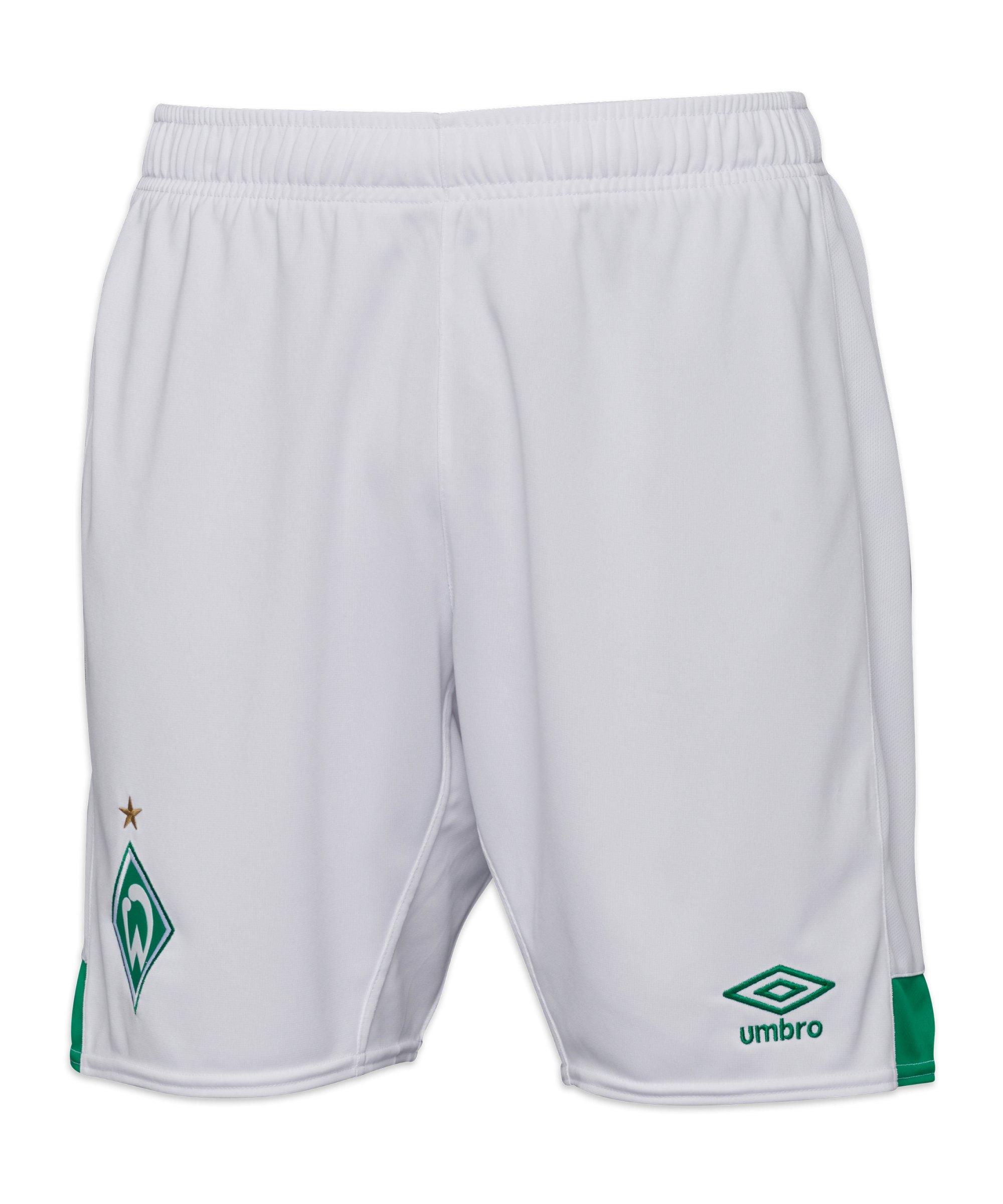 Umbro SV Werder Bremen Short Home 2021/2022 Weiss - weiss