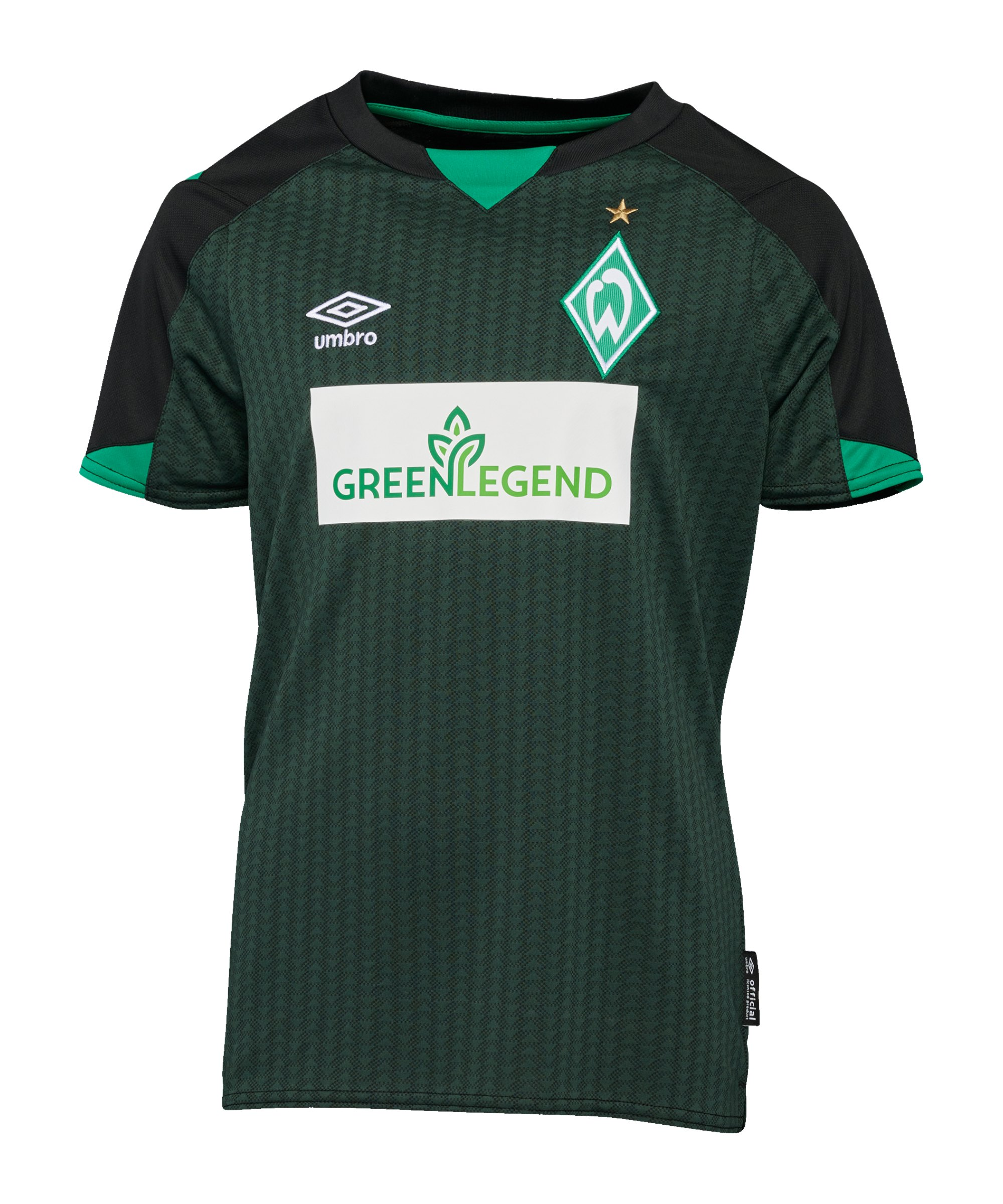 Umbro SV Werder Bremen Trikot 3rd Kids 2021/2022 Schwarz - schwarz