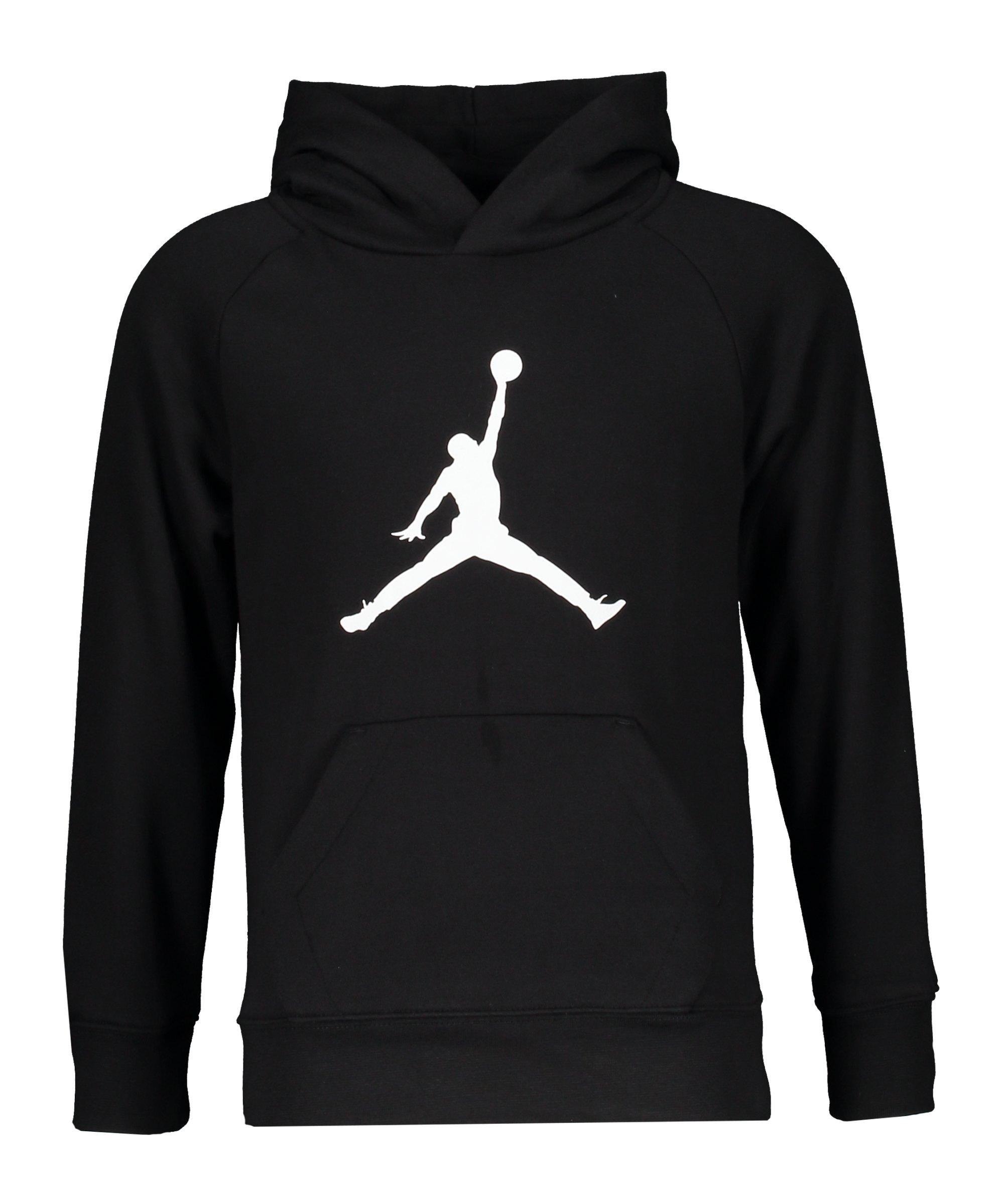Jordan Jumpman Logo Fleece Hoody Kids Schwarz F023 - schwarz