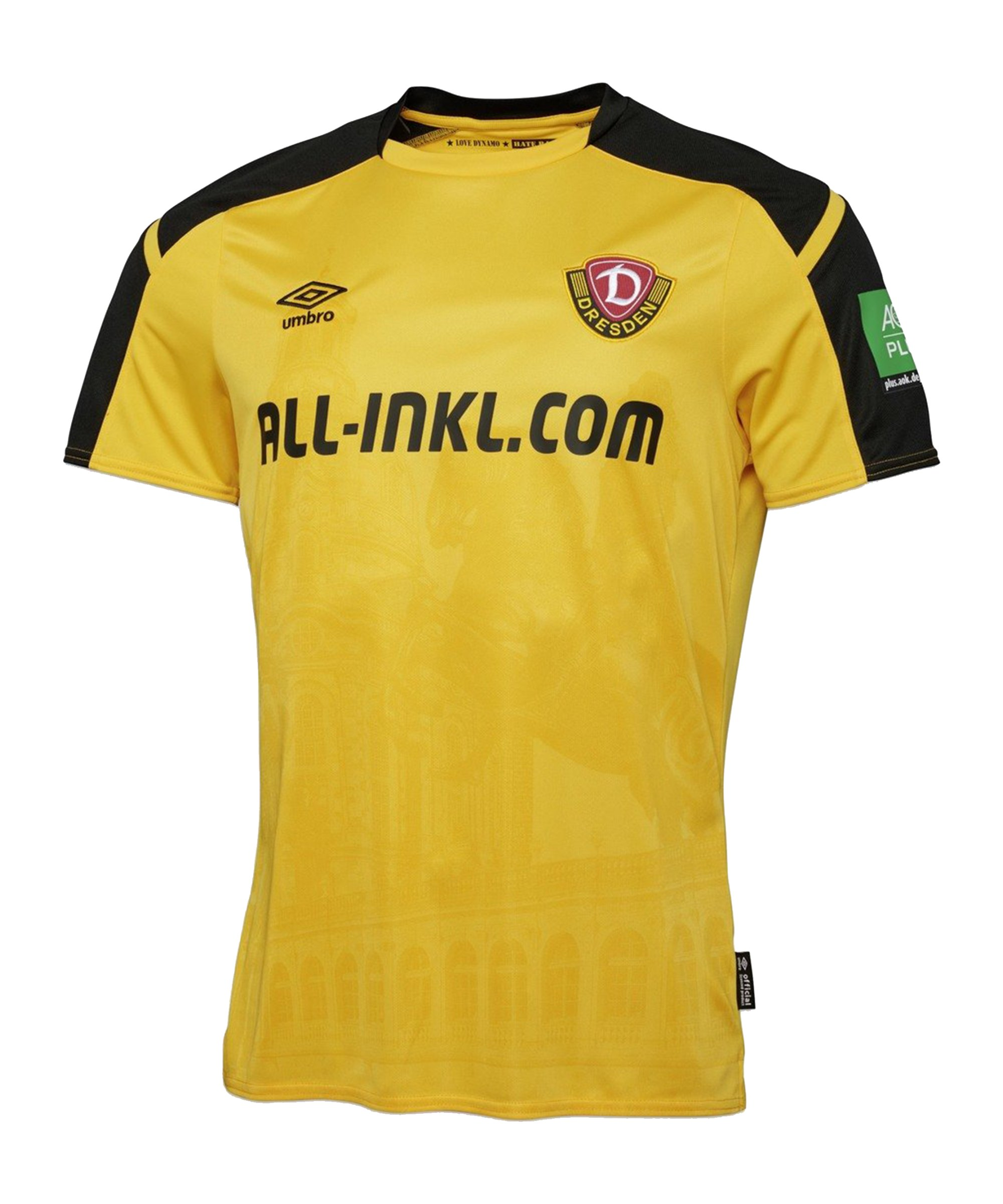 Umbro Dynamo Dresden Trikot Home 2021/2022 Gelb - gelb