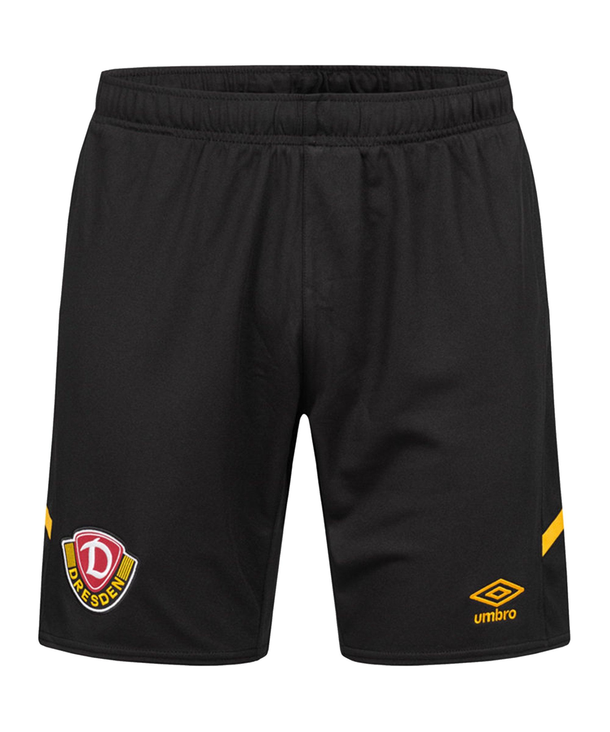 Umbro Dynamo Dresden Short Home 2021/2022 Schwarz - gelb