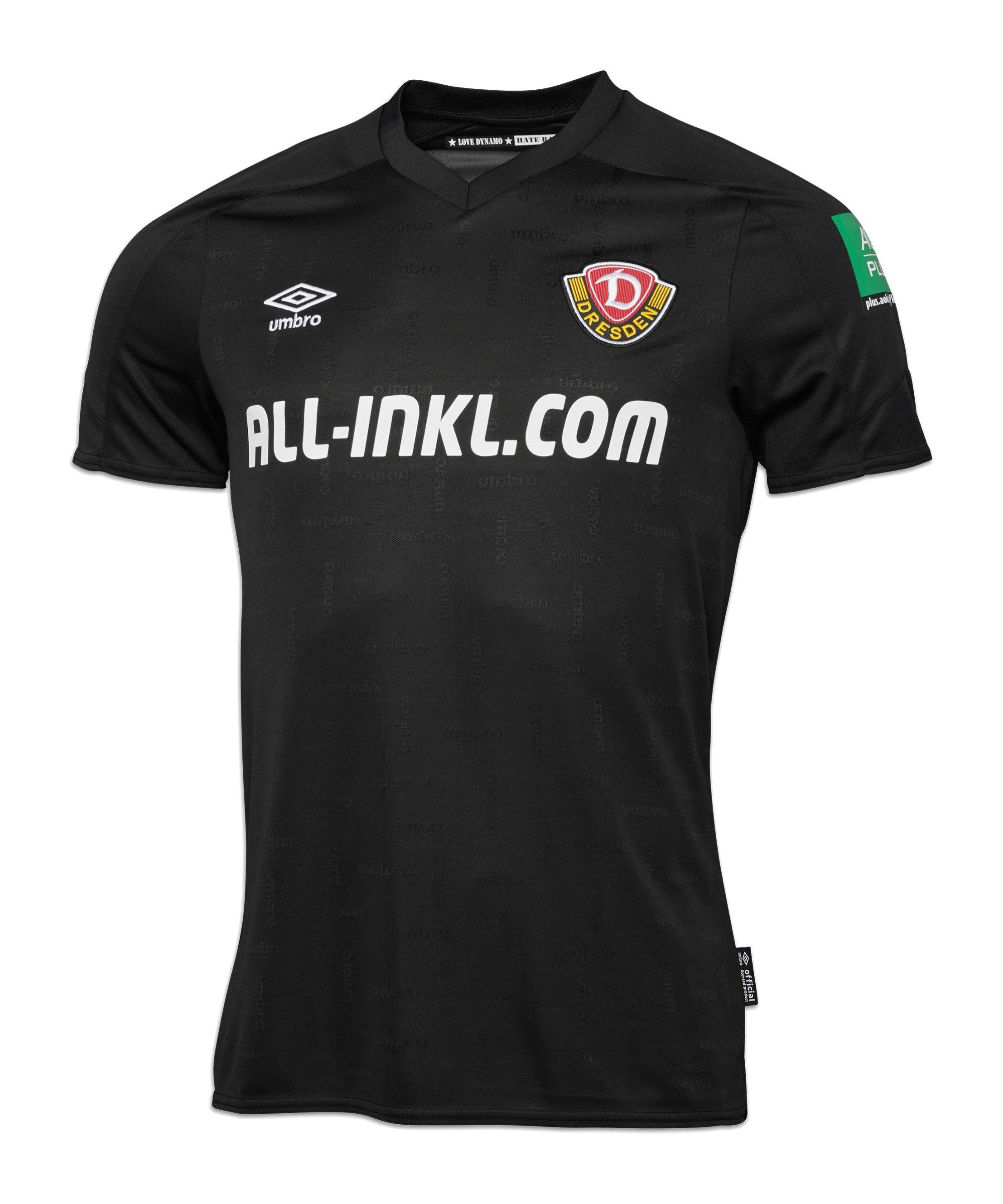Umbro Dynamo Dresden Trikot Away 2021/2022 Kids - schwarz