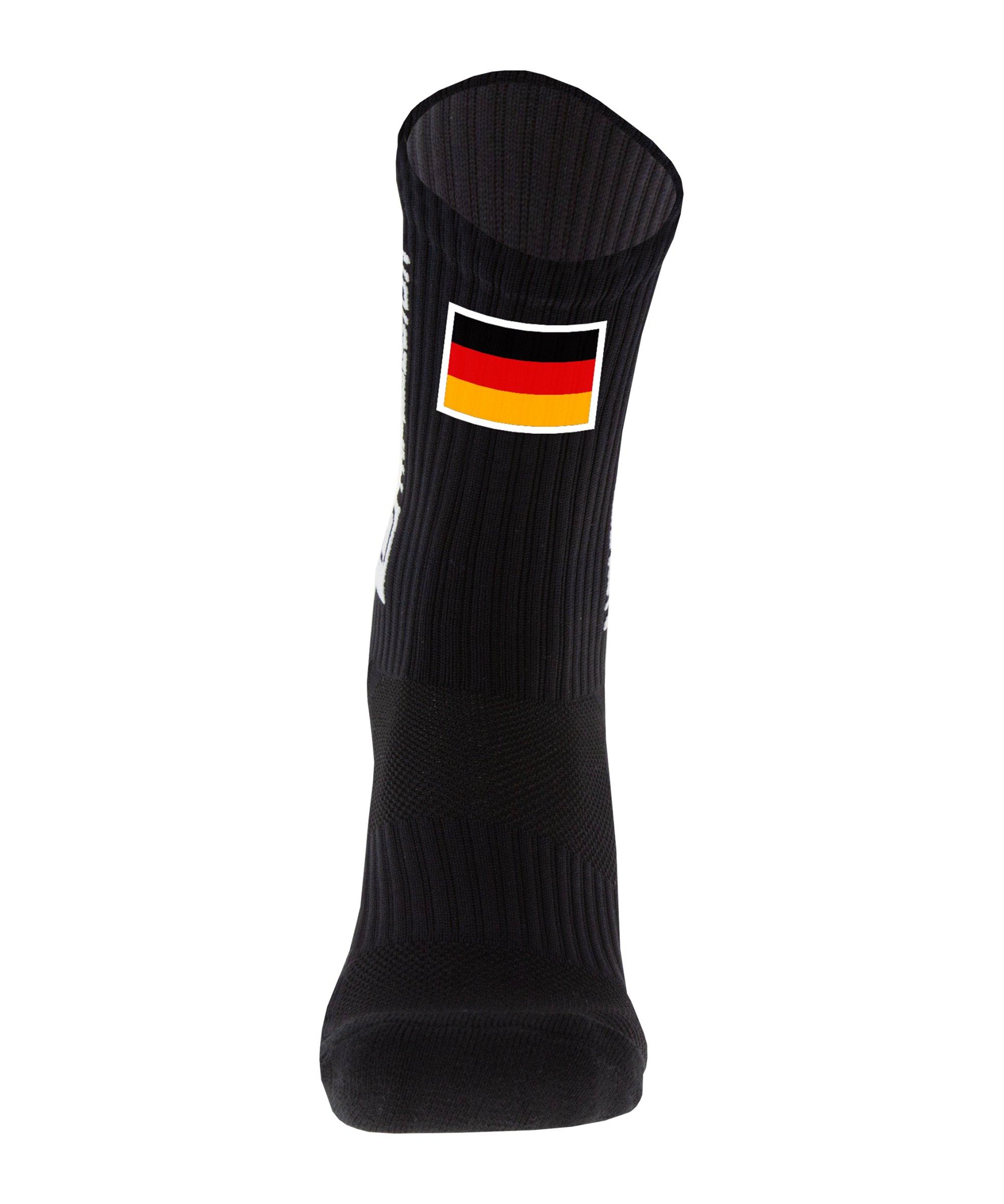 Tapedesign Gripsocks Deutschland Socken Schwarz - schwarz