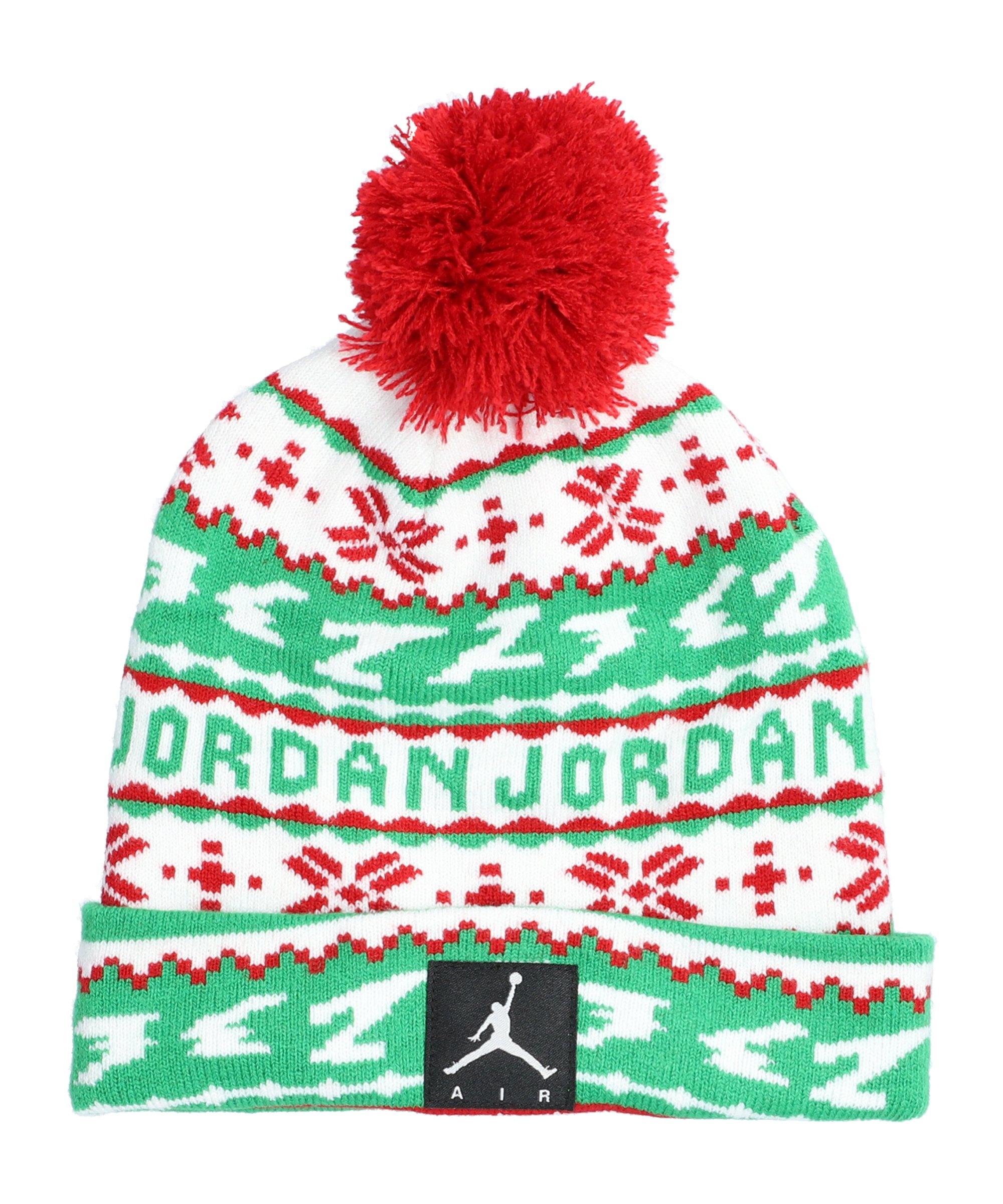 Jordan Cuffed Pom Beanie Kids Rot FR78 - rot