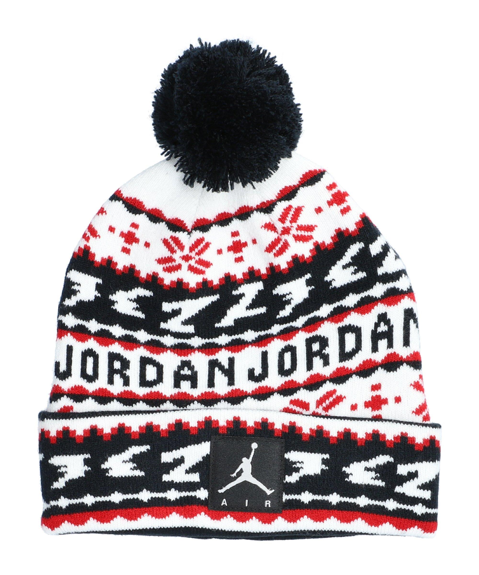 Jordan Cuffed Pom Beanie Kids Schwarz F023 - schwarz