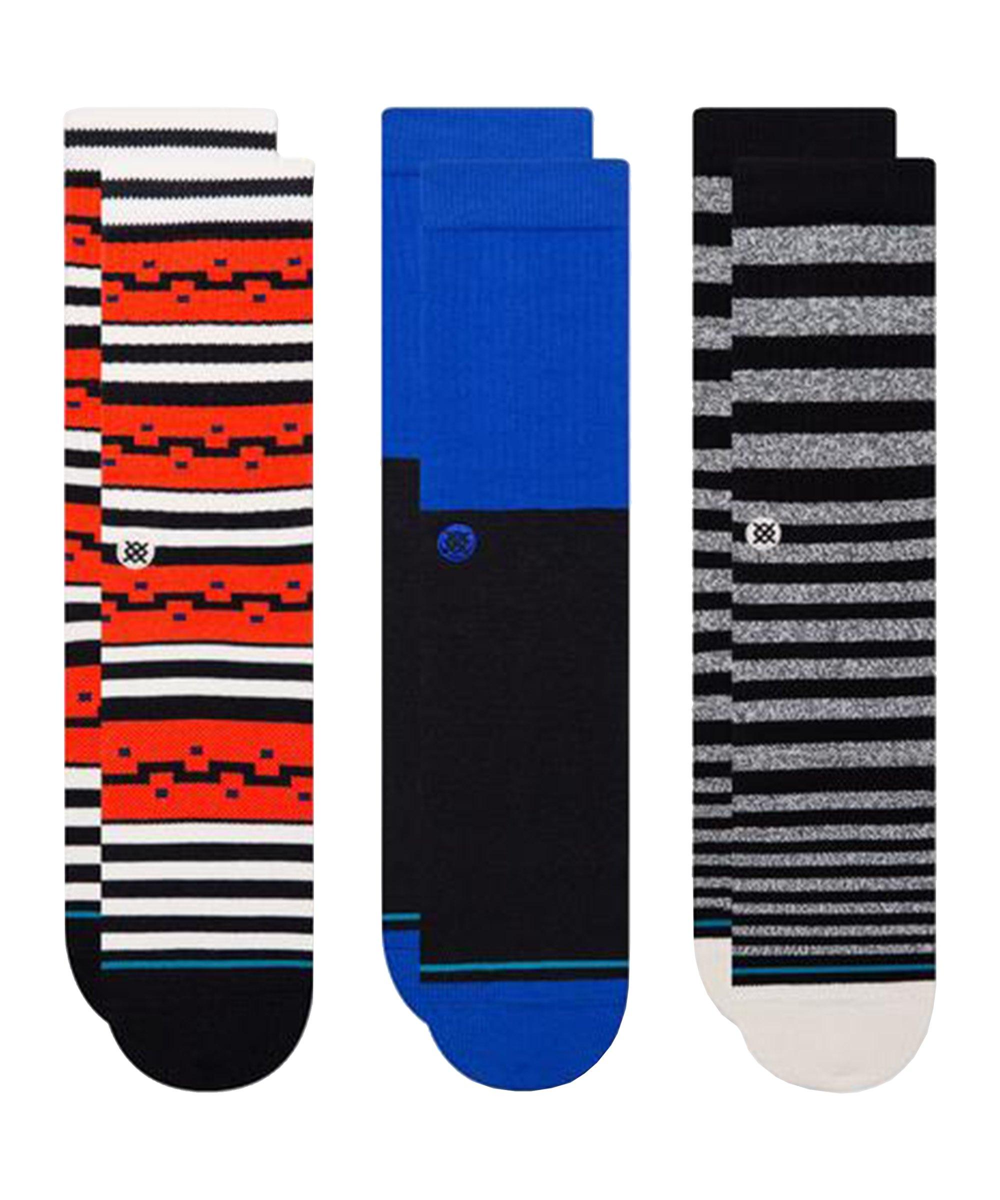 Stance Irwin 3er Pack Socken Multi - rot