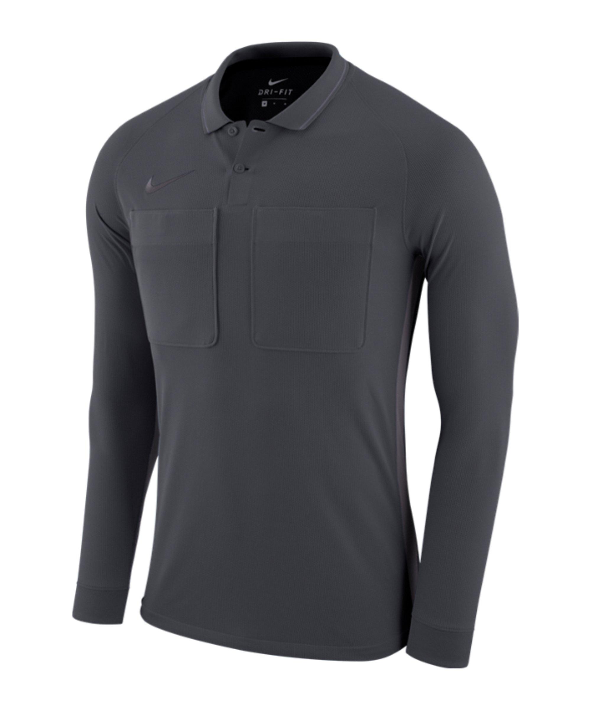 Nike Dry Referee Trikot langarm Grau F060 - grau