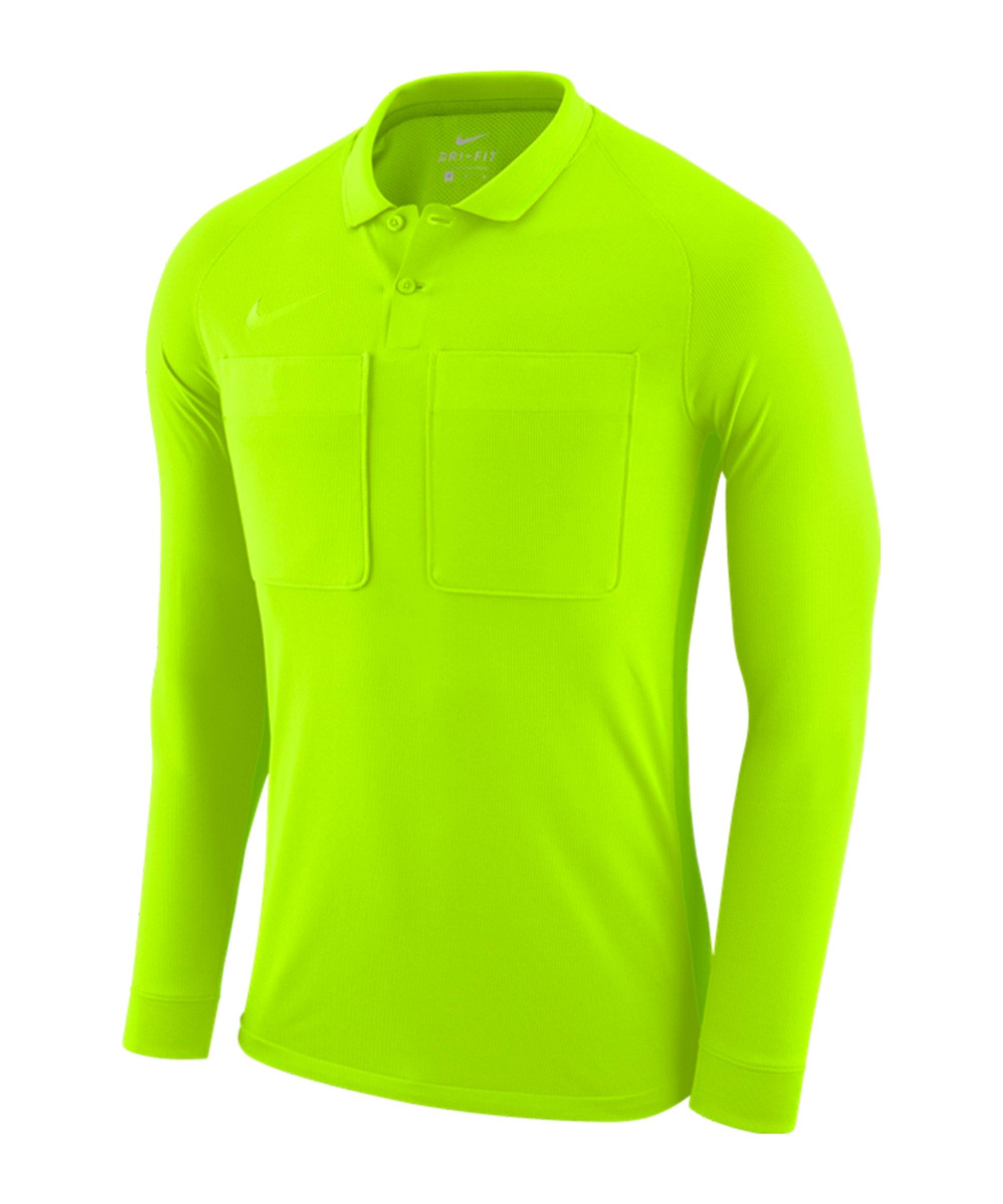 Nike Dry Referee Trikot langarm Grün F703 - gruen