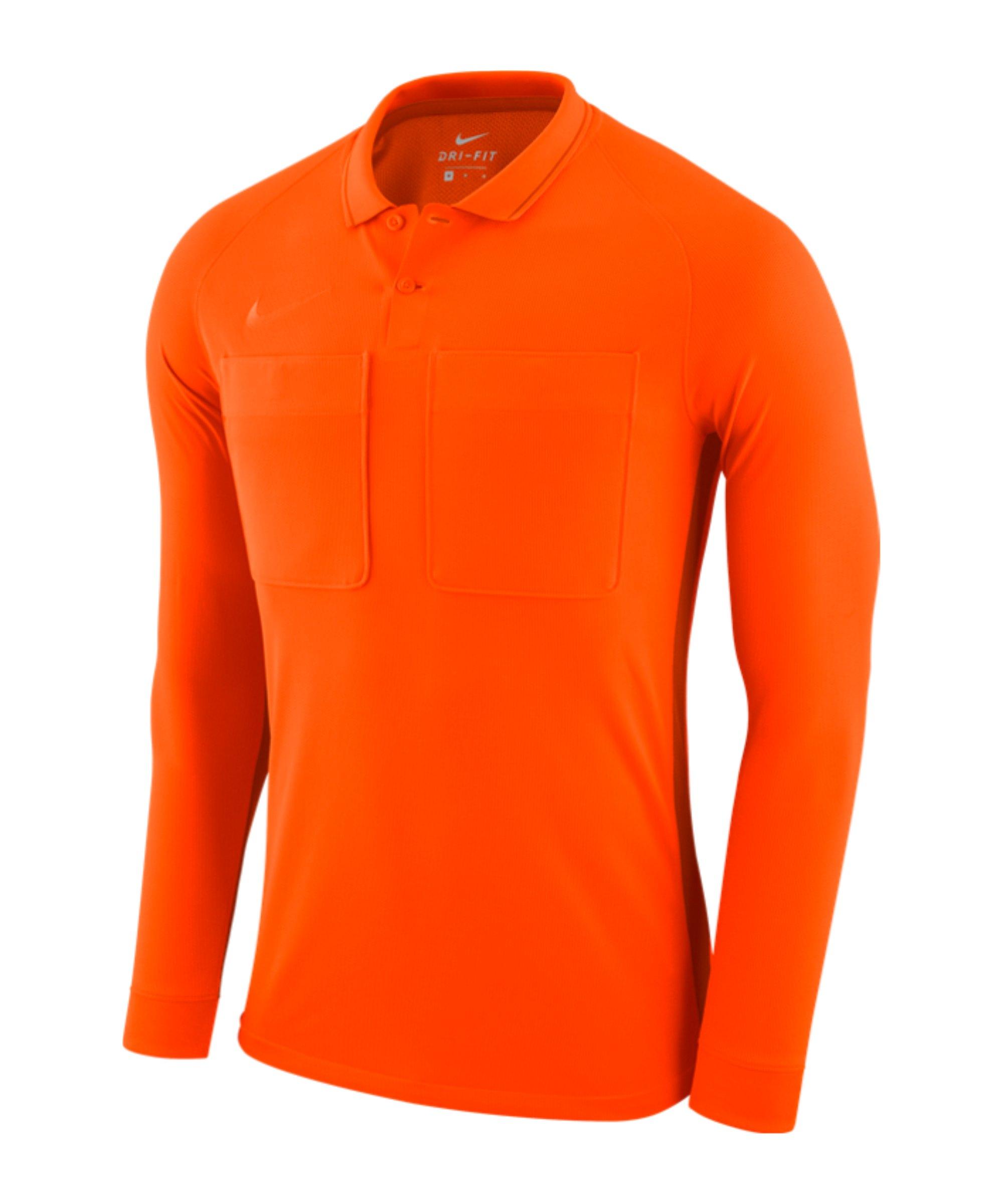 Nike Dry Referee Trikot langarm Orange F819 - orange