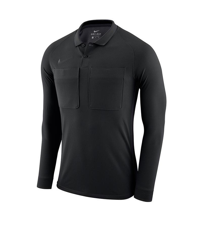 Nike Dry Referee Trikot langarm Schwarz F010 - schwarz