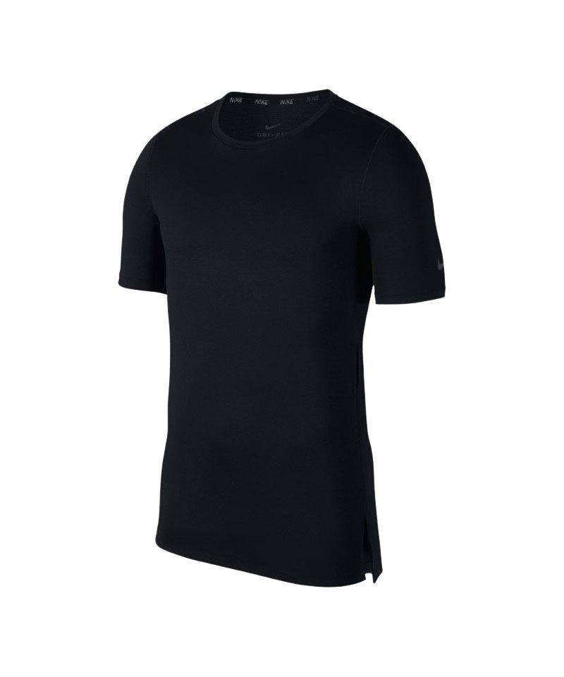 Nike Fitted Top T-Shirt Training Schwarz F010 - schwarz
