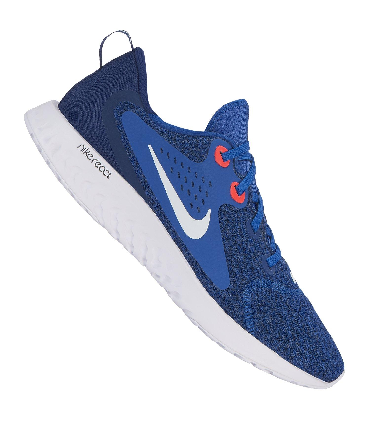 Nike Legend React Running Blau Weiss F405 - blau