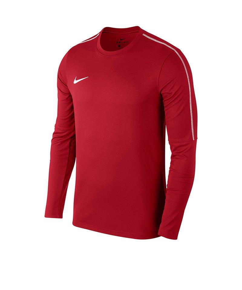 Nike Park 18 Crew Top Sweatshirt Rot F657 - rot