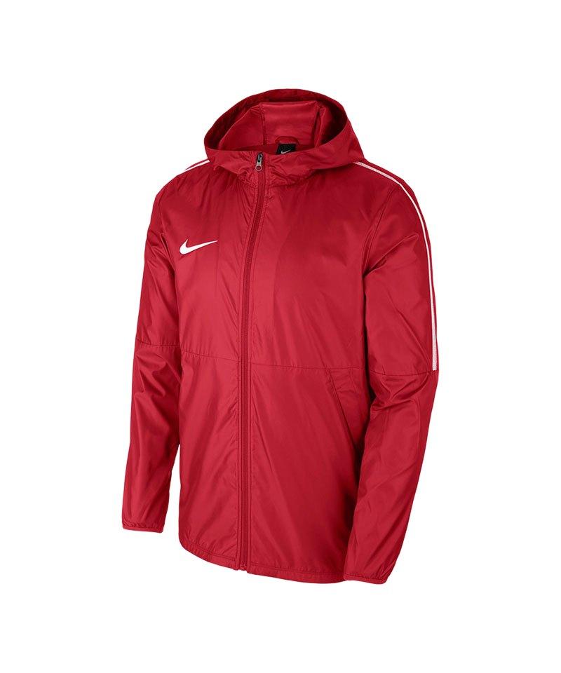 Nike Park 18 Rain Jacket Regenjacke Rot F657 - rot