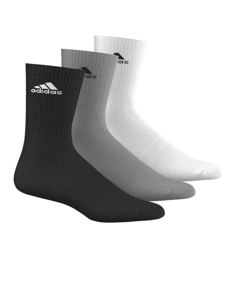 adidas Socken 3S Performance Crew 3er Pack - schwarz