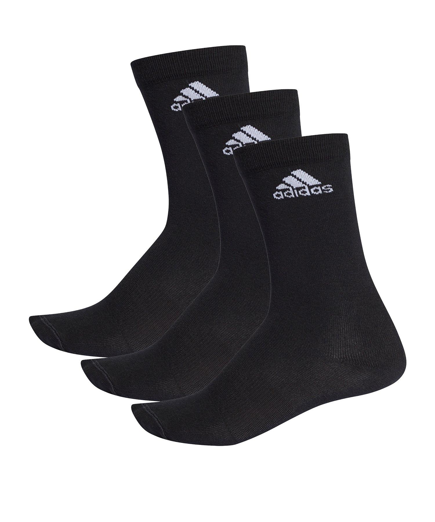 adidas Crew Socks Socken 3er Pack Schwarz - schwarz