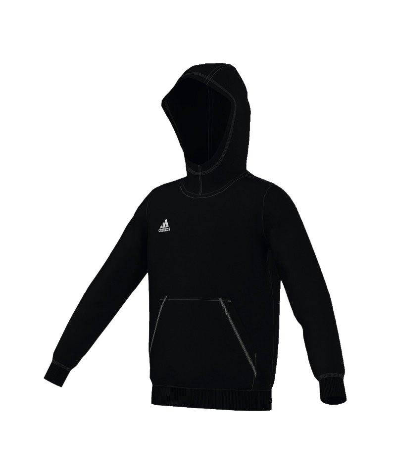 adidas Core 15 Hoody Kinder Schwarz - schwarz