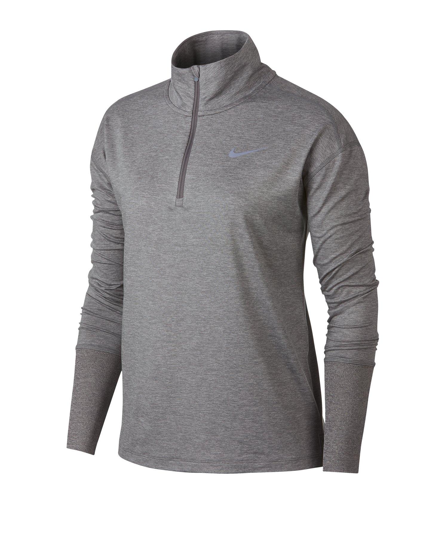 Nike Element 1/2 Zip Top Running Damen Grau F036 - grau