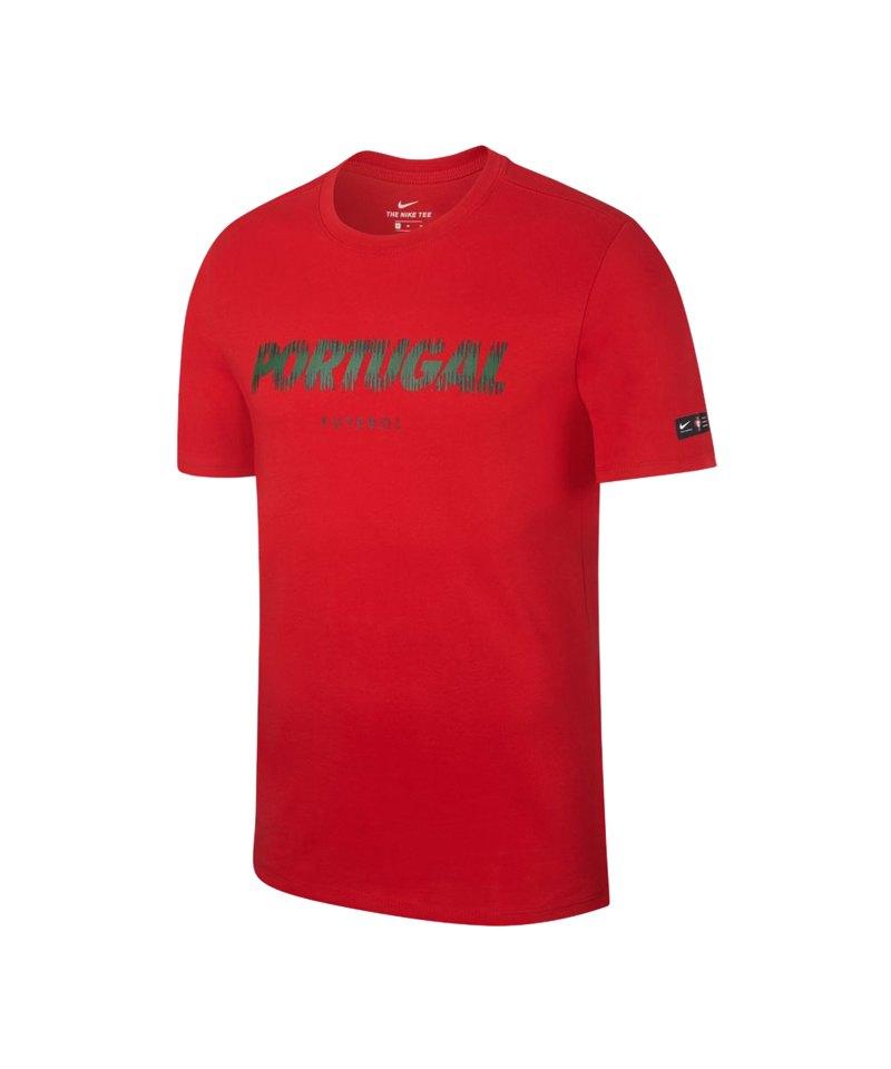 Nike Portugal Pride Tee T-Shirt Rot F687 - rot