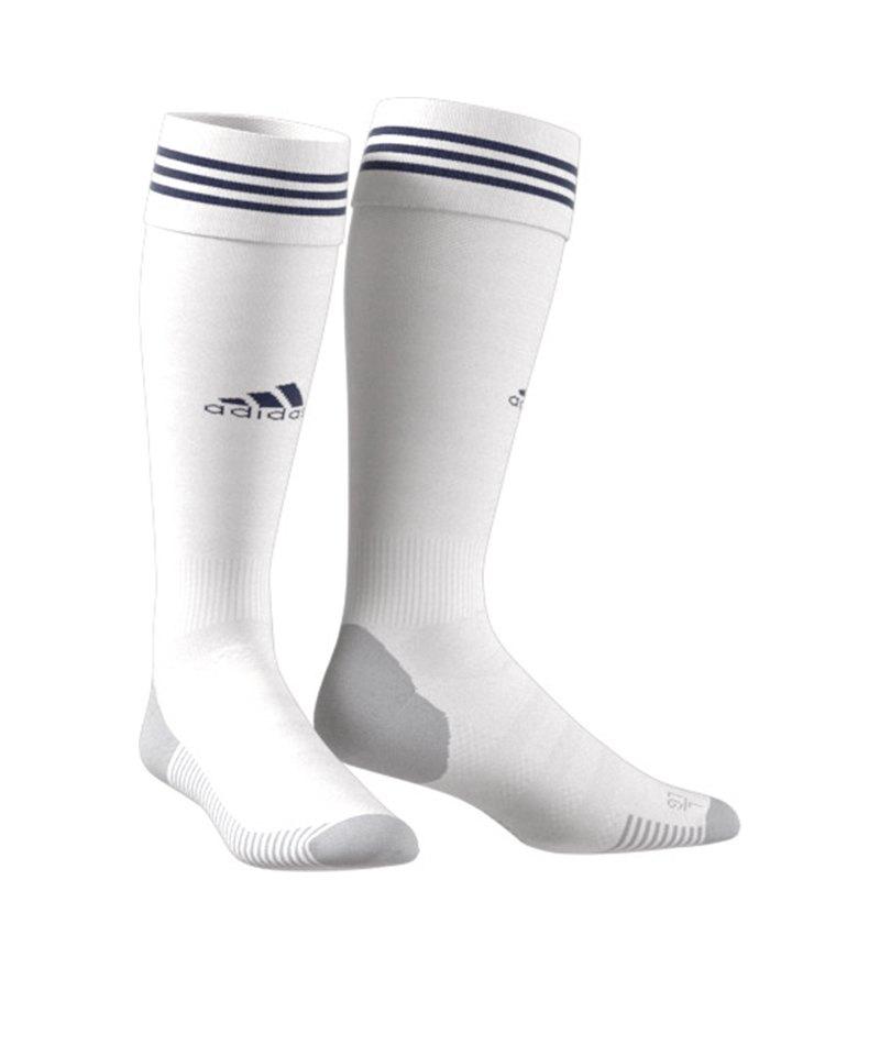 adidas Adisock 18 Stutzenstrumpf Weiss Blau - weiss