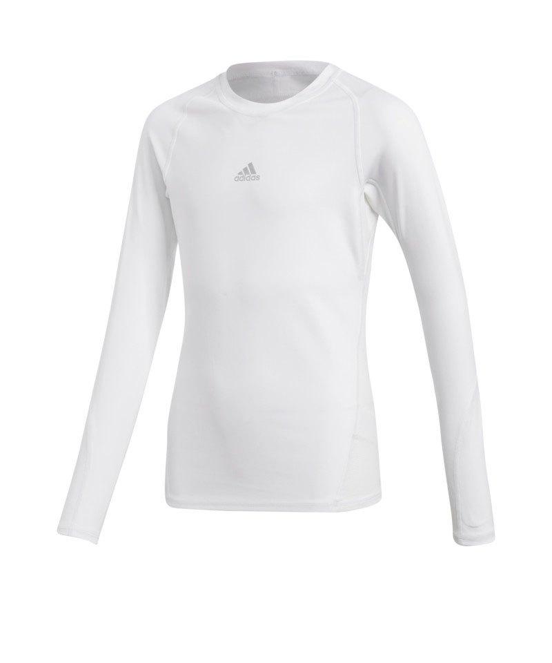 adidas Alphaskin Shirt langarm Kids Weiss - weiss
